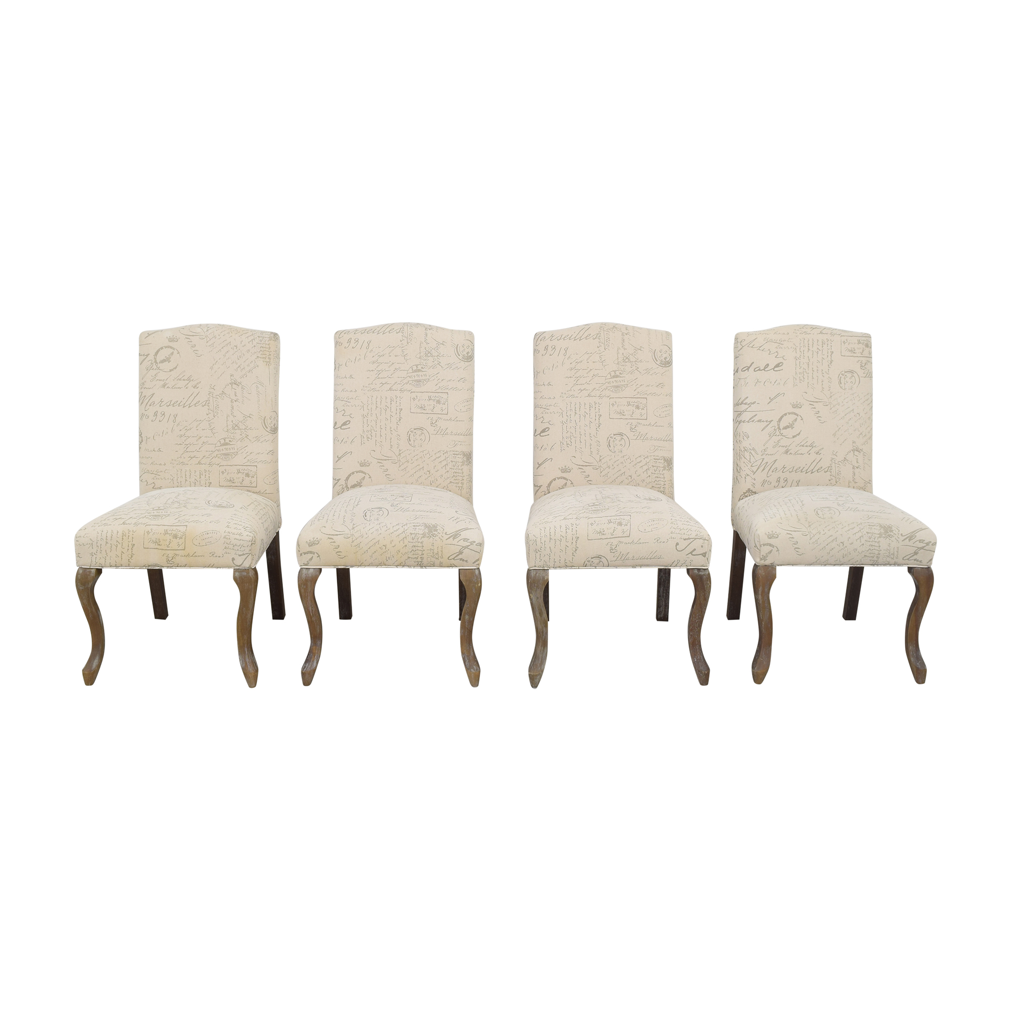 Noble House Noble House French Script Dining Chairs pa