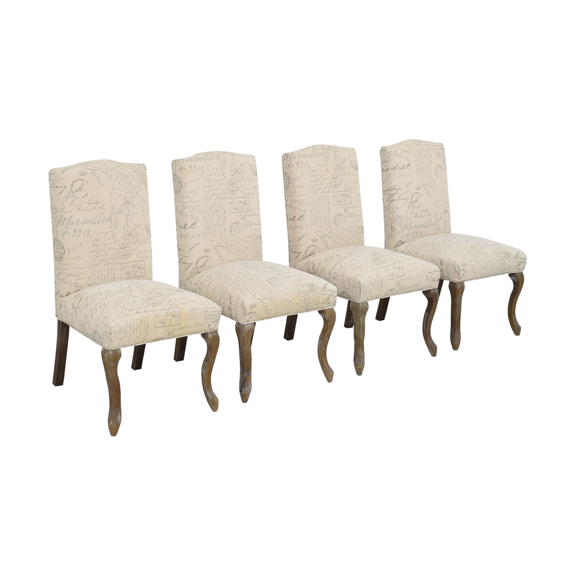 Noble House French Script Dining Chairs sale