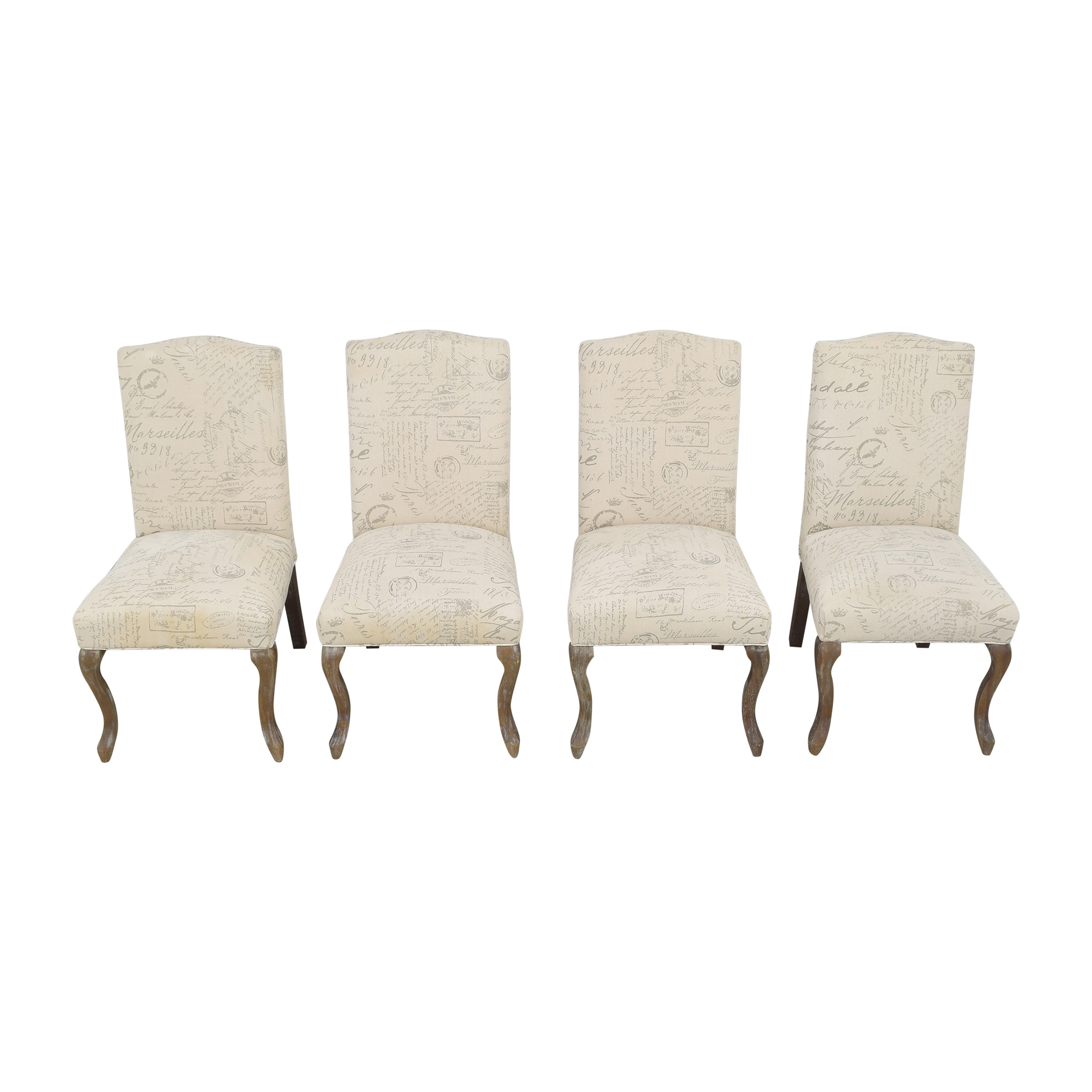 Noble House Noble House French Script Dining Chairs ma