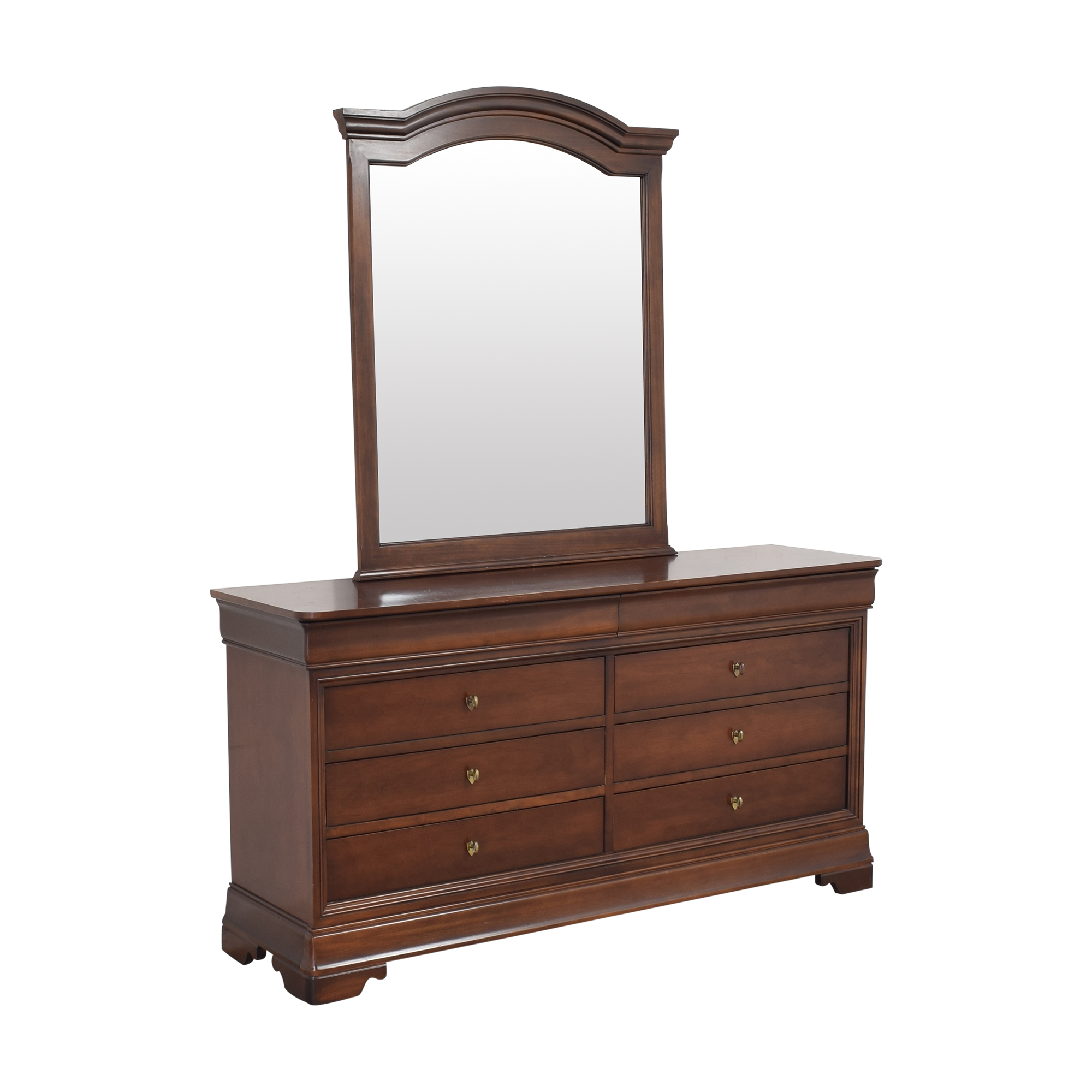 shop Kimball Double Dresser with Mirror Kimball Dressers