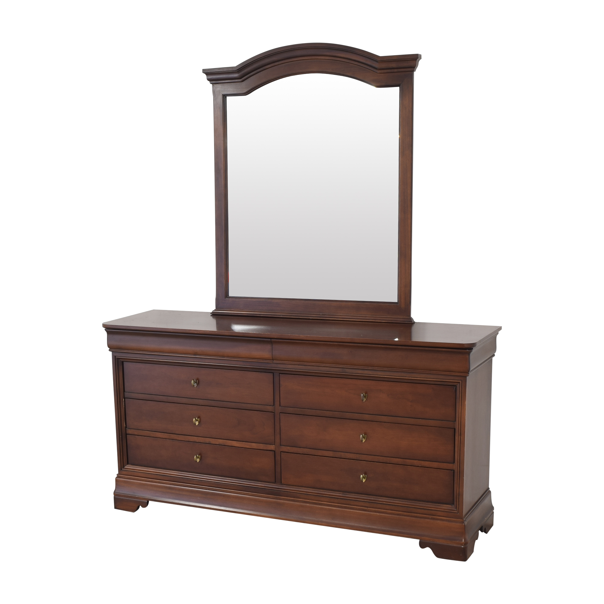 Kimball Double Dresser with Mirror / Dressers