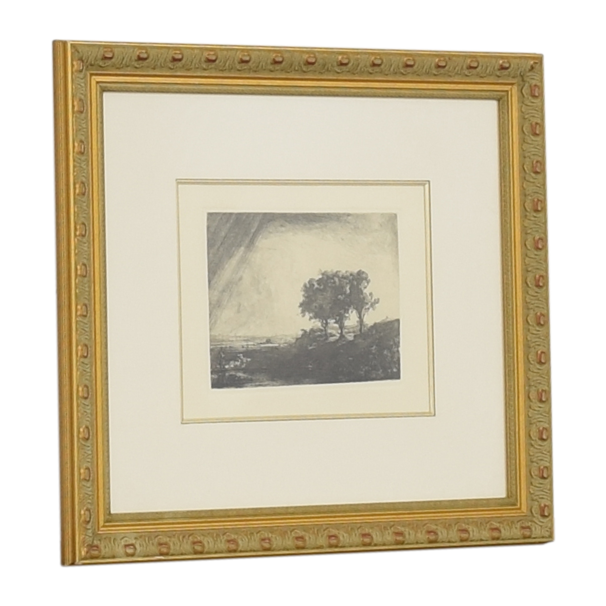 Ross Galleries Framed Rembrandt Three Trees Print ct