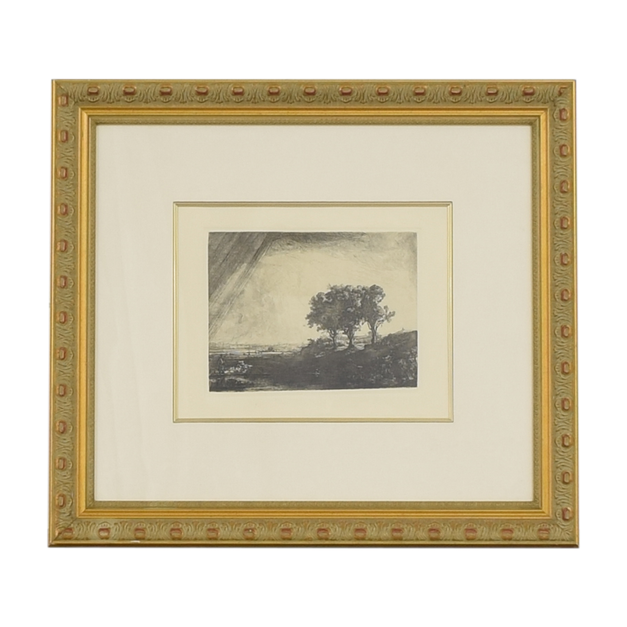 shop Framed Rembrandt Three Trees Print Ross Galleries Wall Art