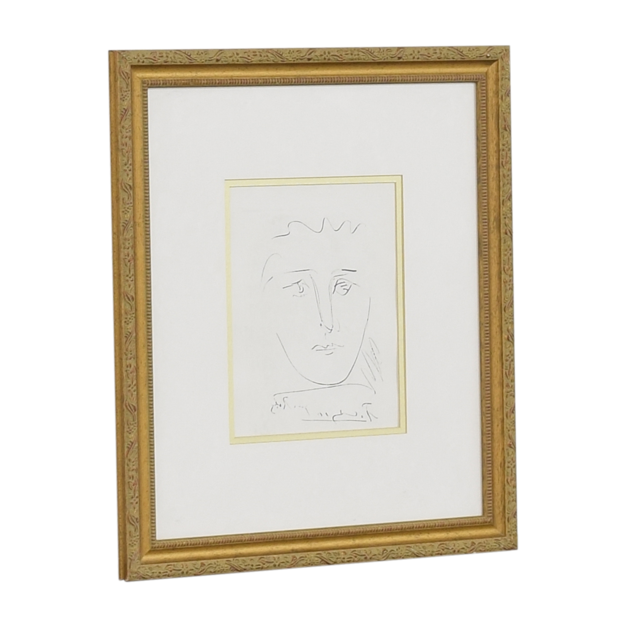 Ross Galleries Ross Galleries Framed Picasso Pour Robe Print Wall Art for sale
