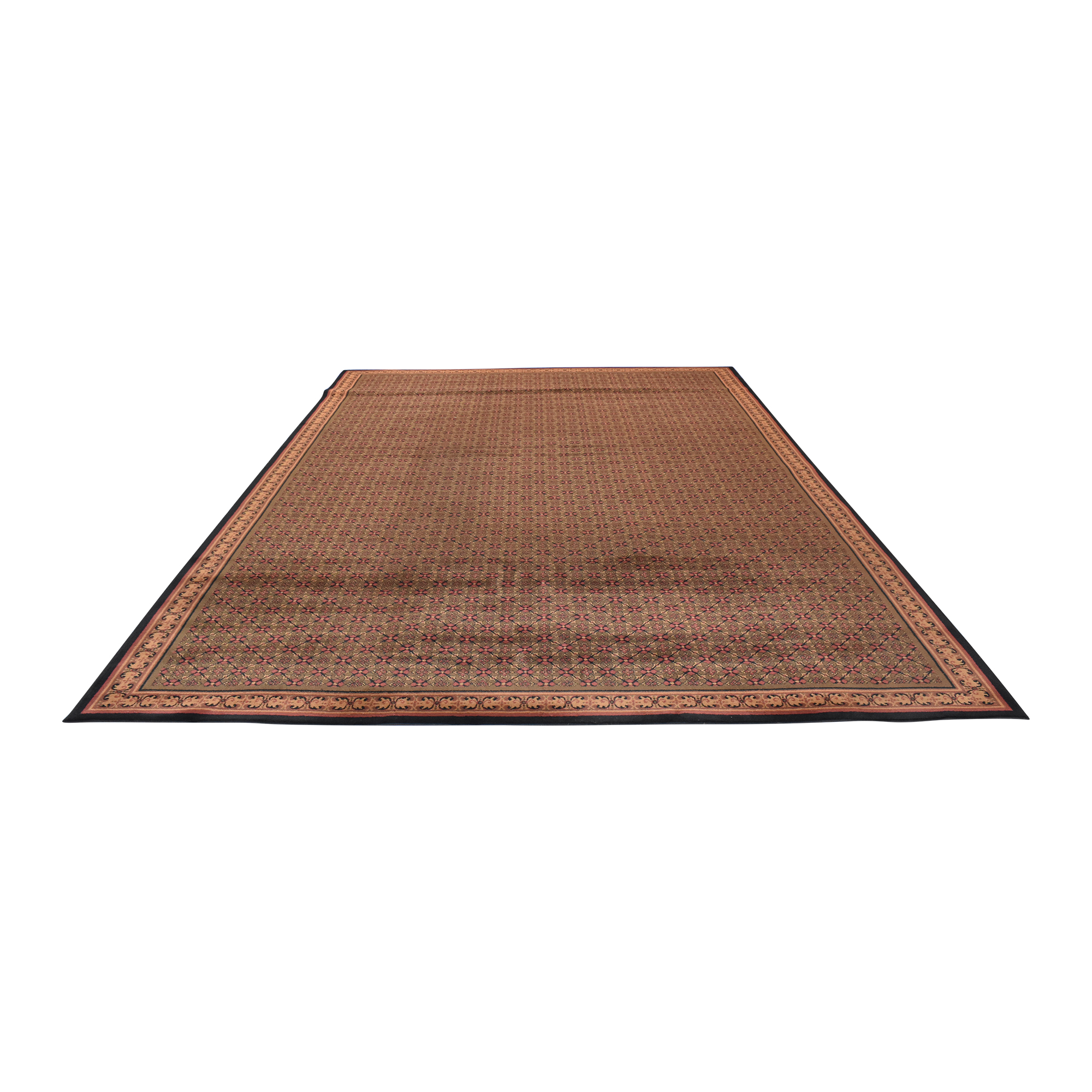 Patterned Area Rug Red