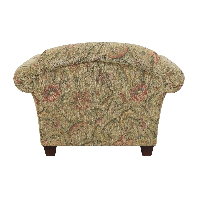 Braxton Culler Braxton Culler Floral Roll Arm Chair pa