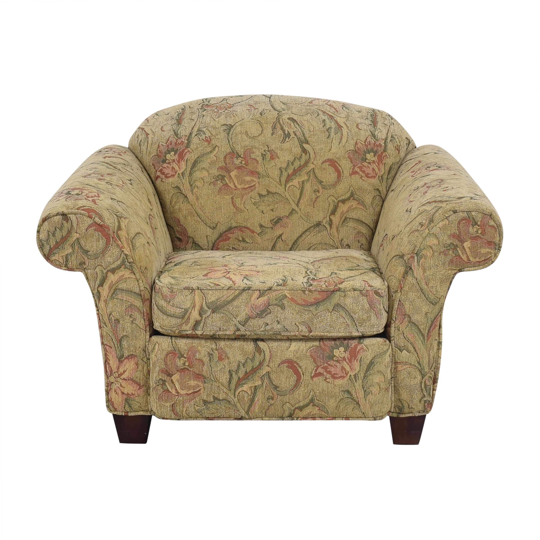 Braxton Culler Braxton Culler Floral Roll Arm Chair Accent Chairs
