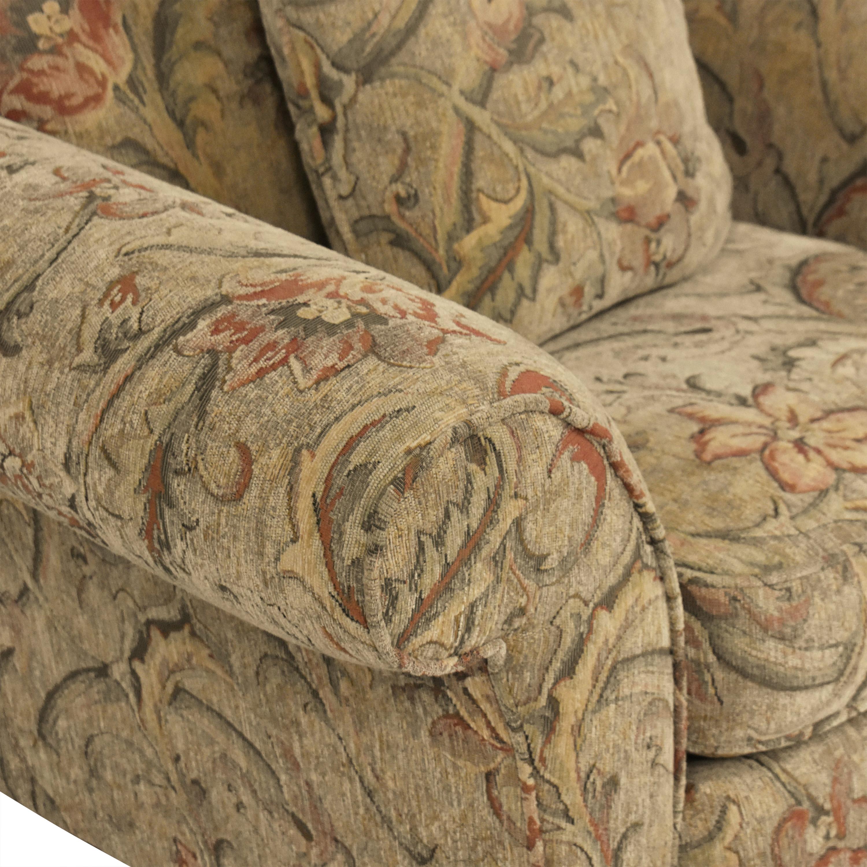 Braxton Culler Braxton Culler Floral Roll Arm Chair Chairs