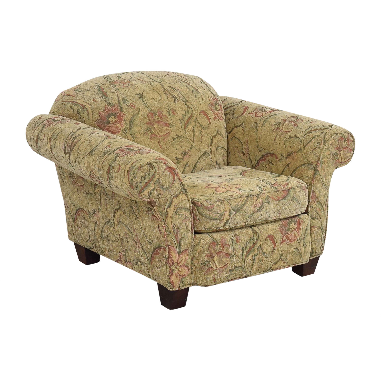 Braxton Culler Floral Roll Arm Chair Braxton Culler