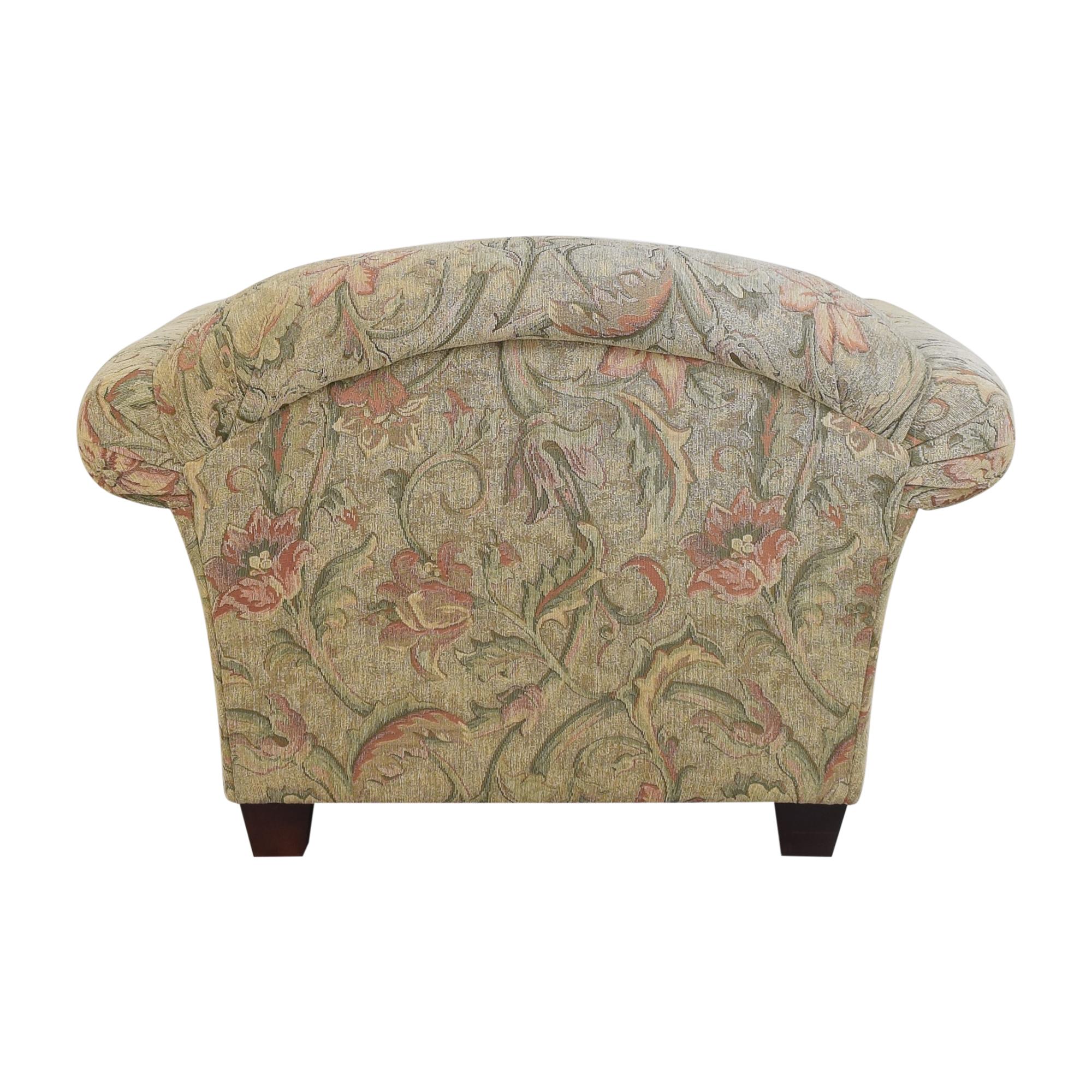 Braxton Culler Braxton Culler Floral Roll Arm Chair ct