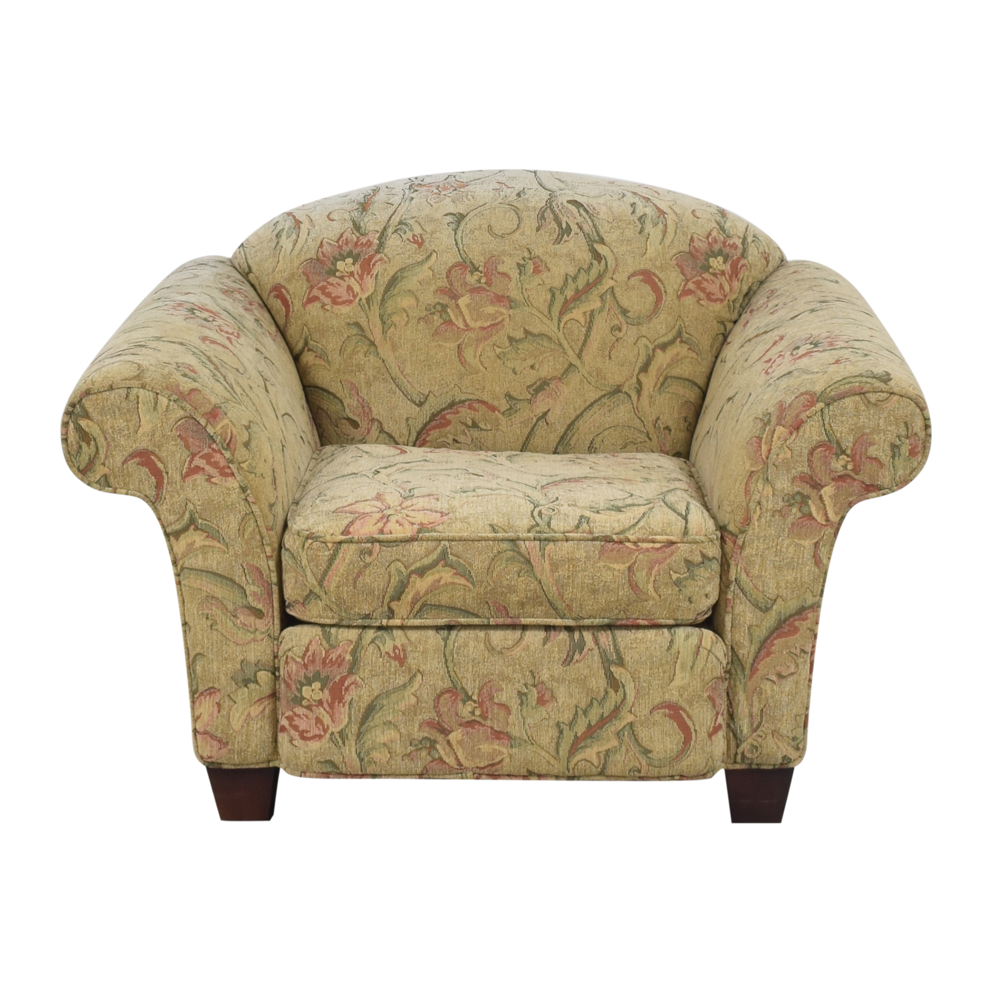 Braxton Culler Braxton Culler Floral Roll Arm Chair on sale