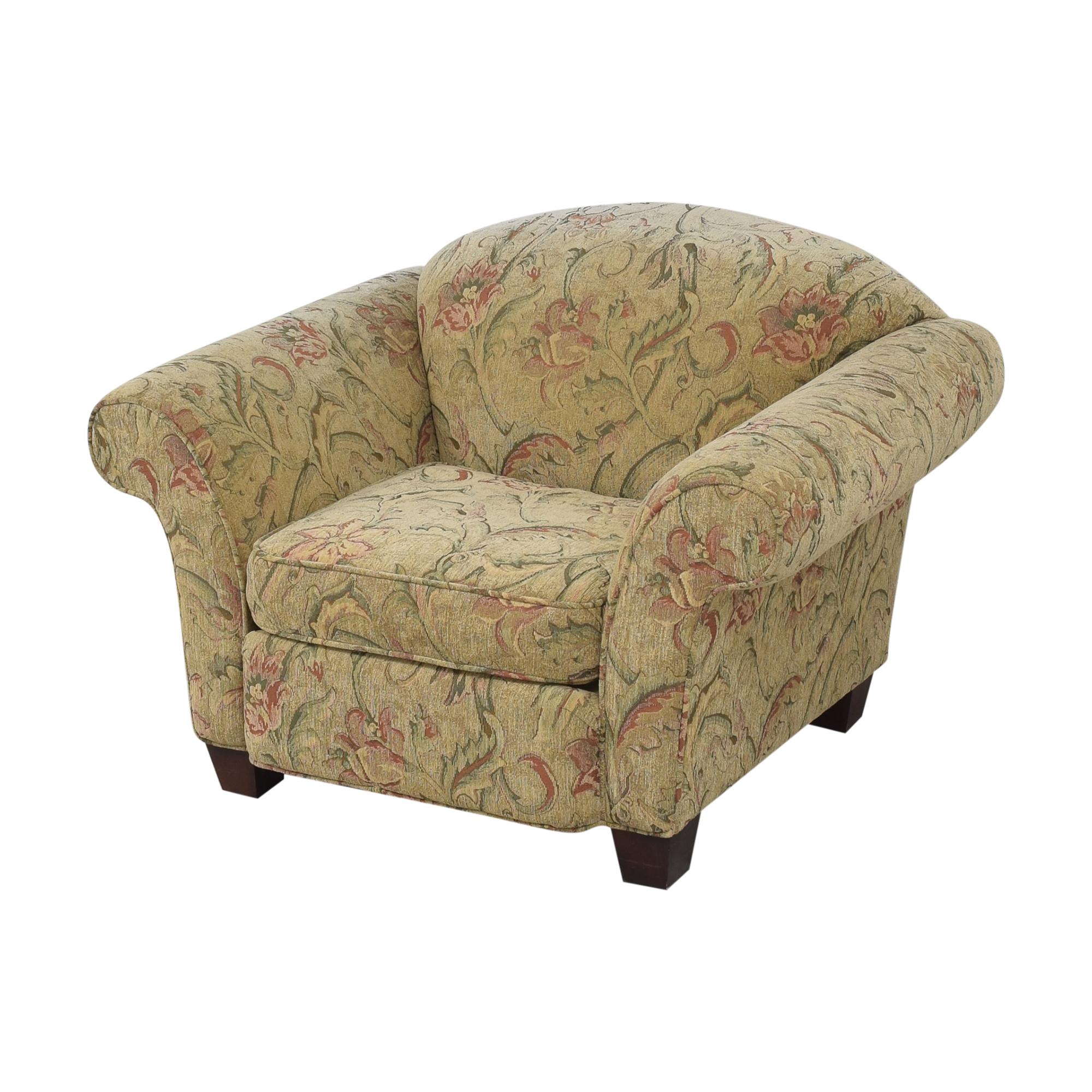 Braxton Culler Floral Roll Arm Chair sale