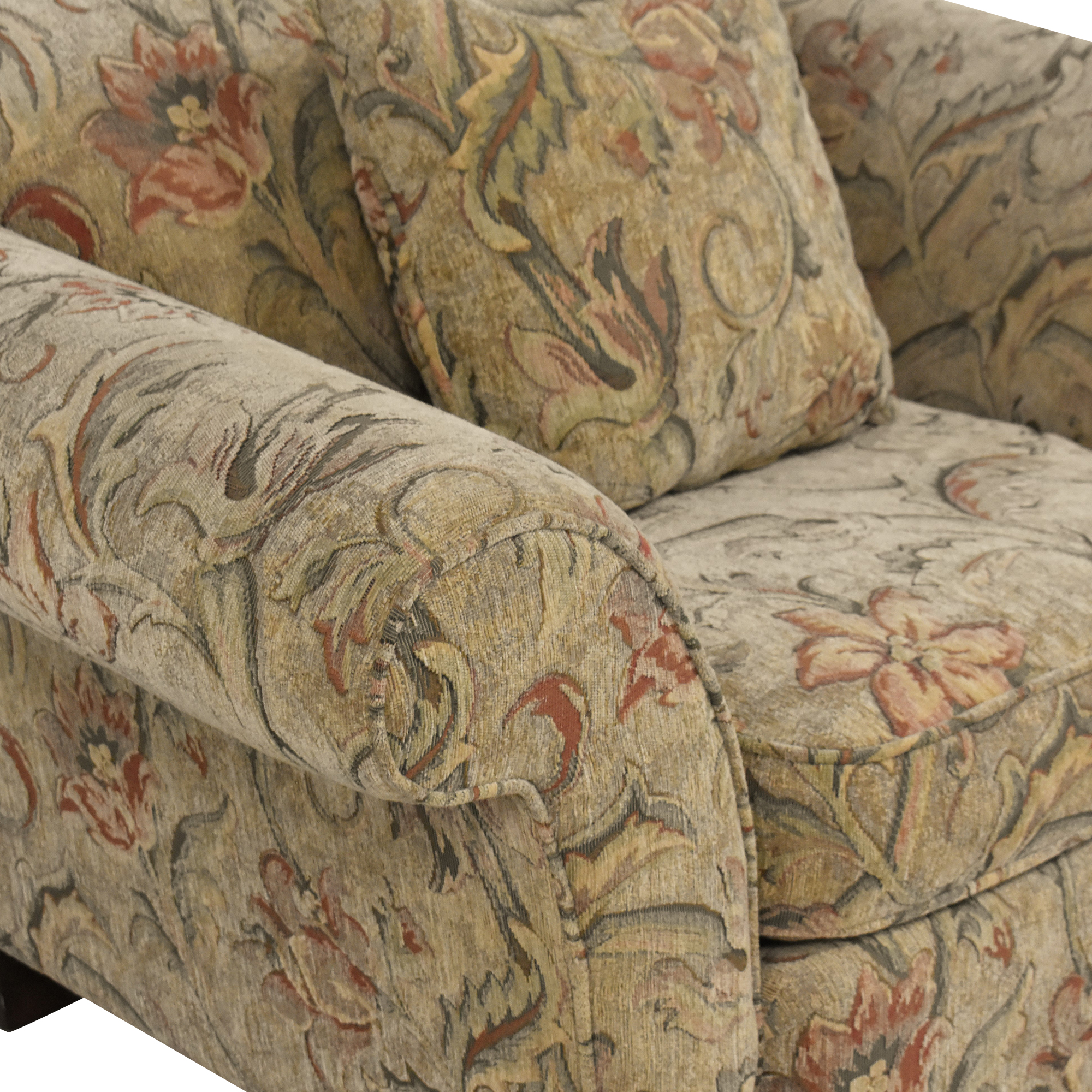 Braxton Culler Braxton Culler Floral Roll Arm Chair nj