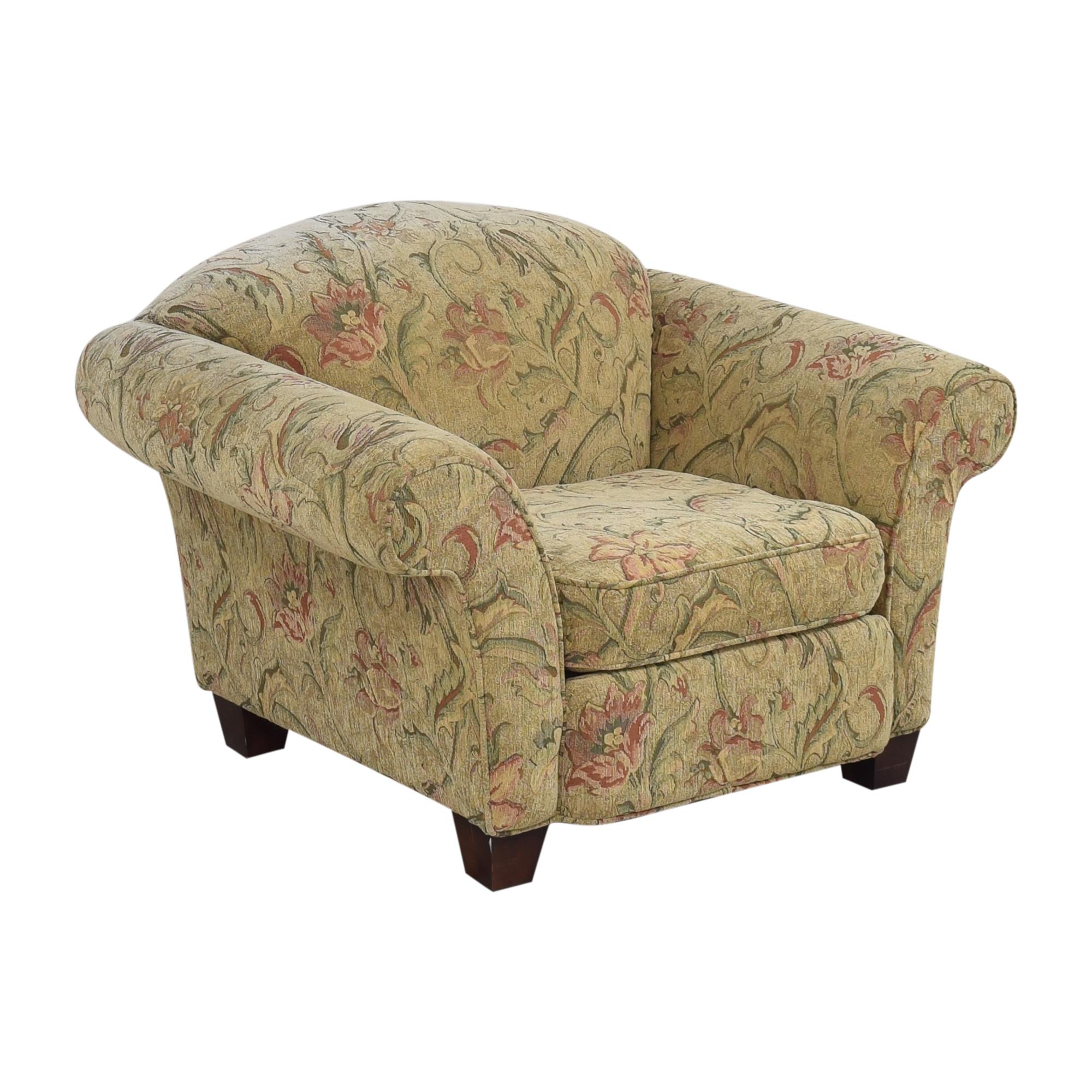 Braxton Culler Braxton Culler Floral Roll Arm Chair second hand