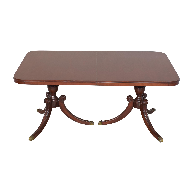 Drexel Heritage Drexel Heritage Double Pedestal Dining Table