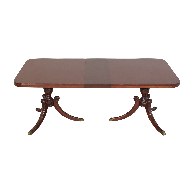 Drexel Heritage Drexel Heritage Double Pedestal Dining Table nj