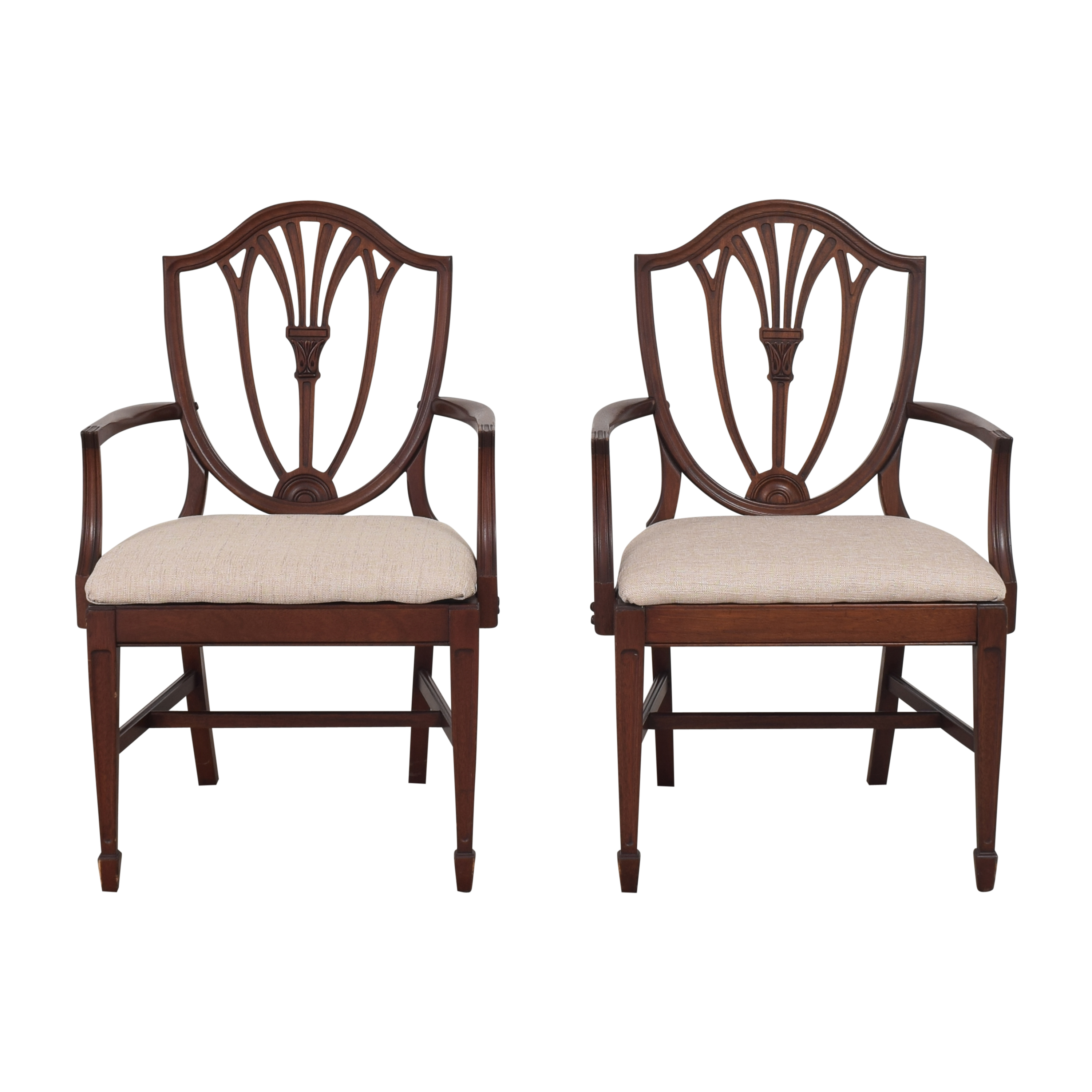 Drexel Heritage Drexel Heritage Shield Back Dining Arm Chairs pa