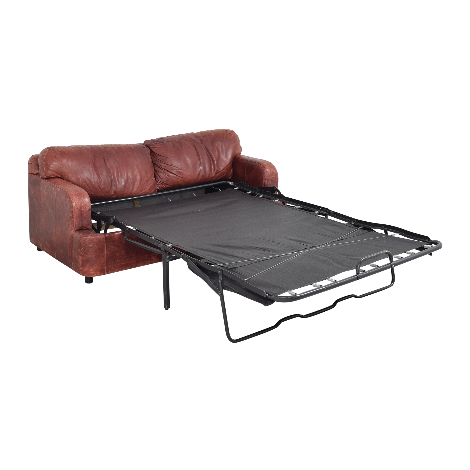 Leather Sleeper Sofa used