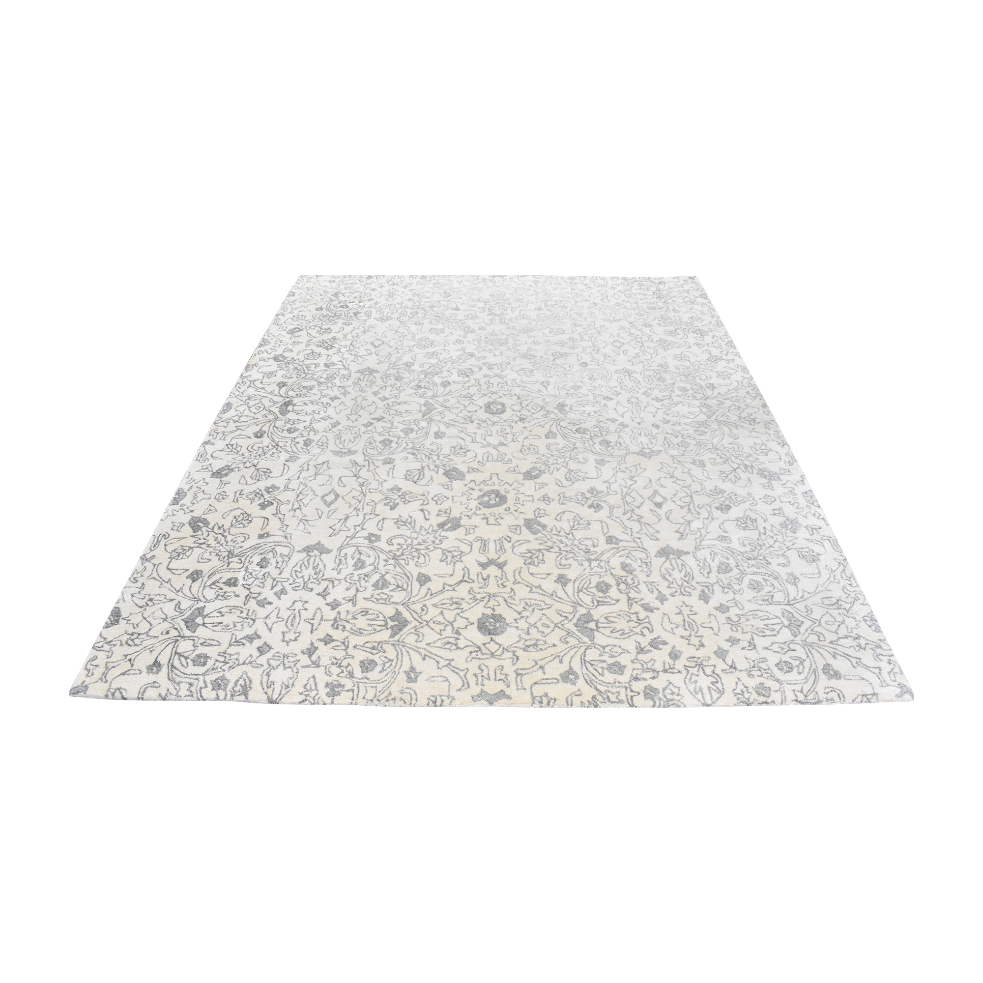 Bashian Rugs Bashian Rugs Greenwich Area Rug light gray and white