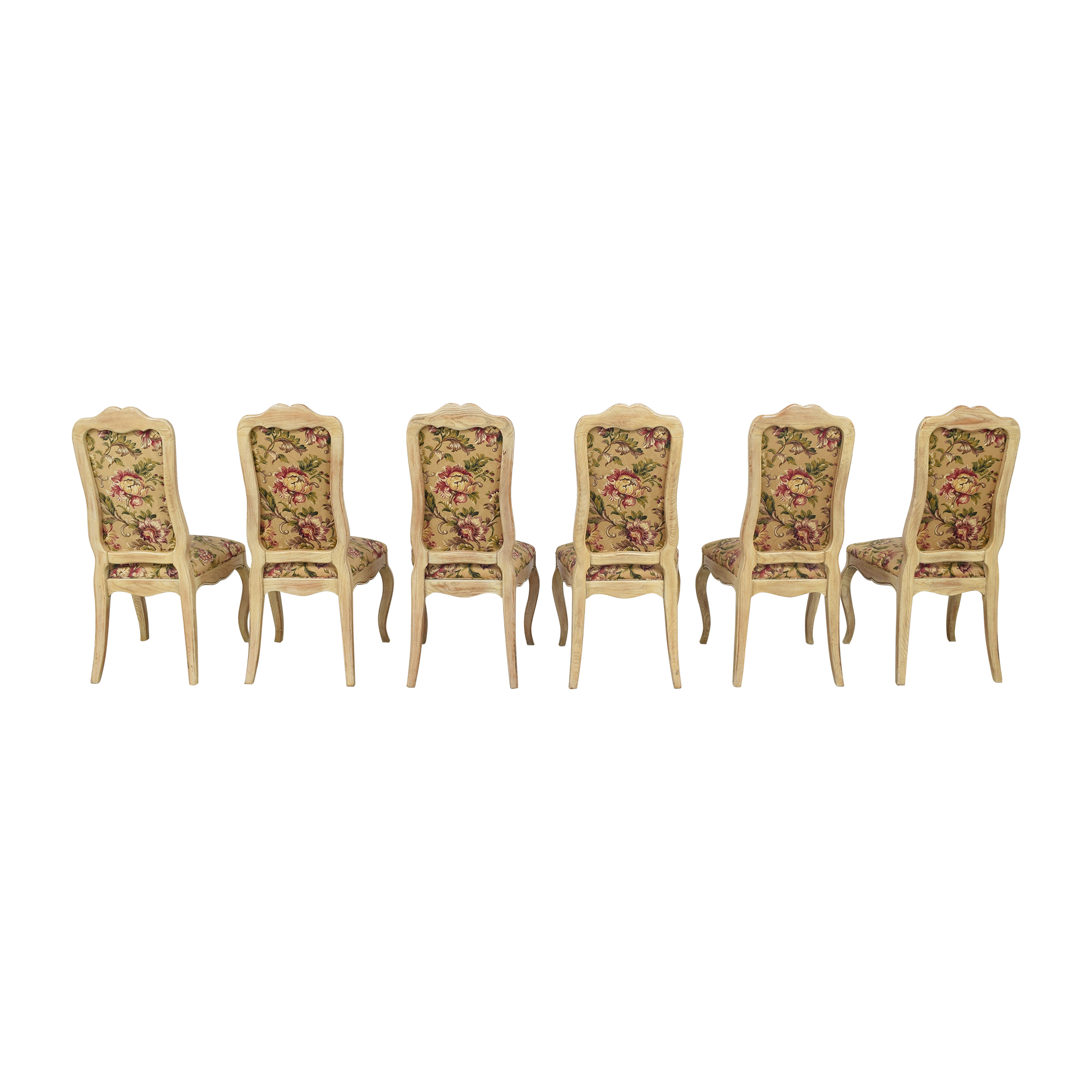 Davis Cabinet Company Floral Side Chairs sale