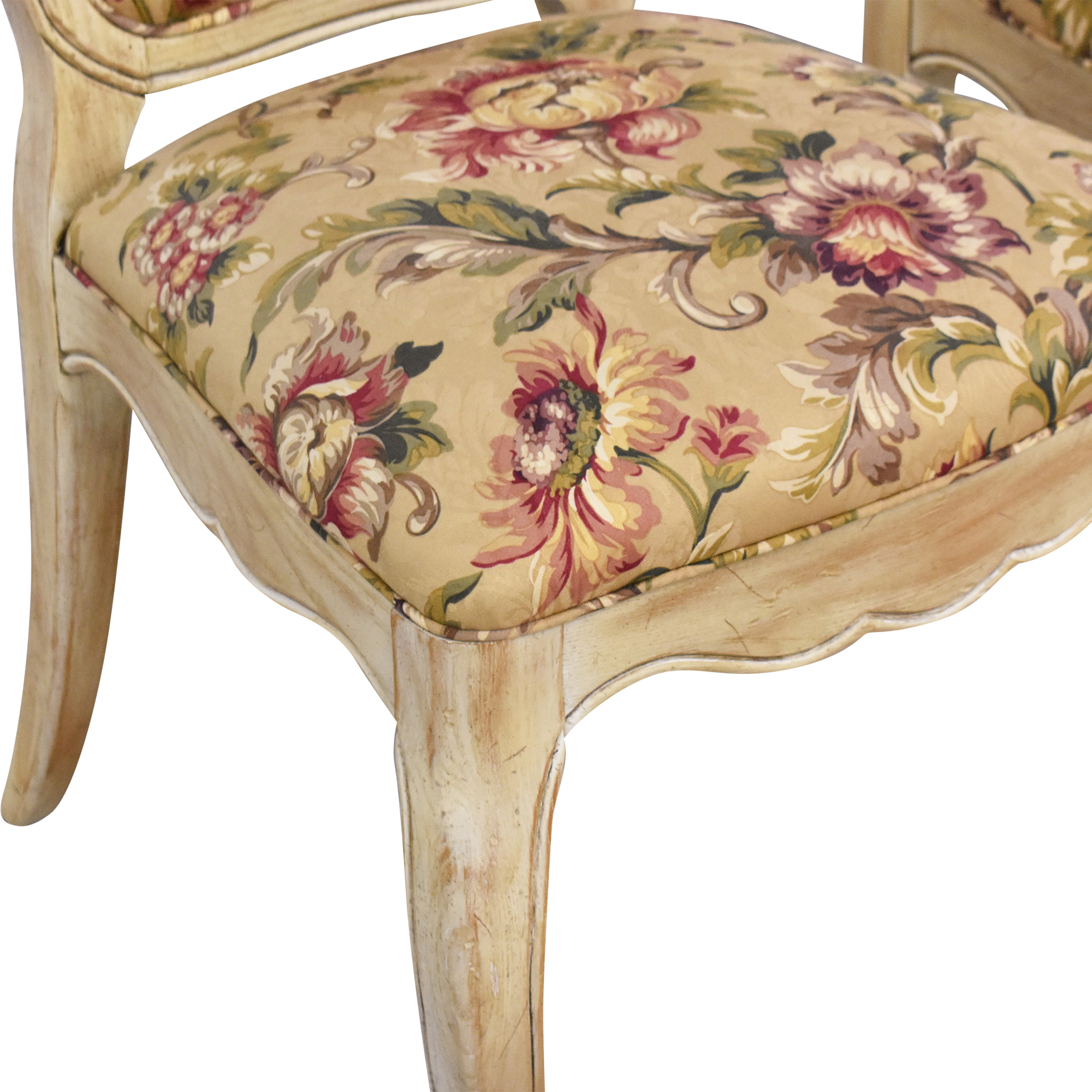 Davis Cabinet Company Davis Cabinet Company Floral Side Chairs discount