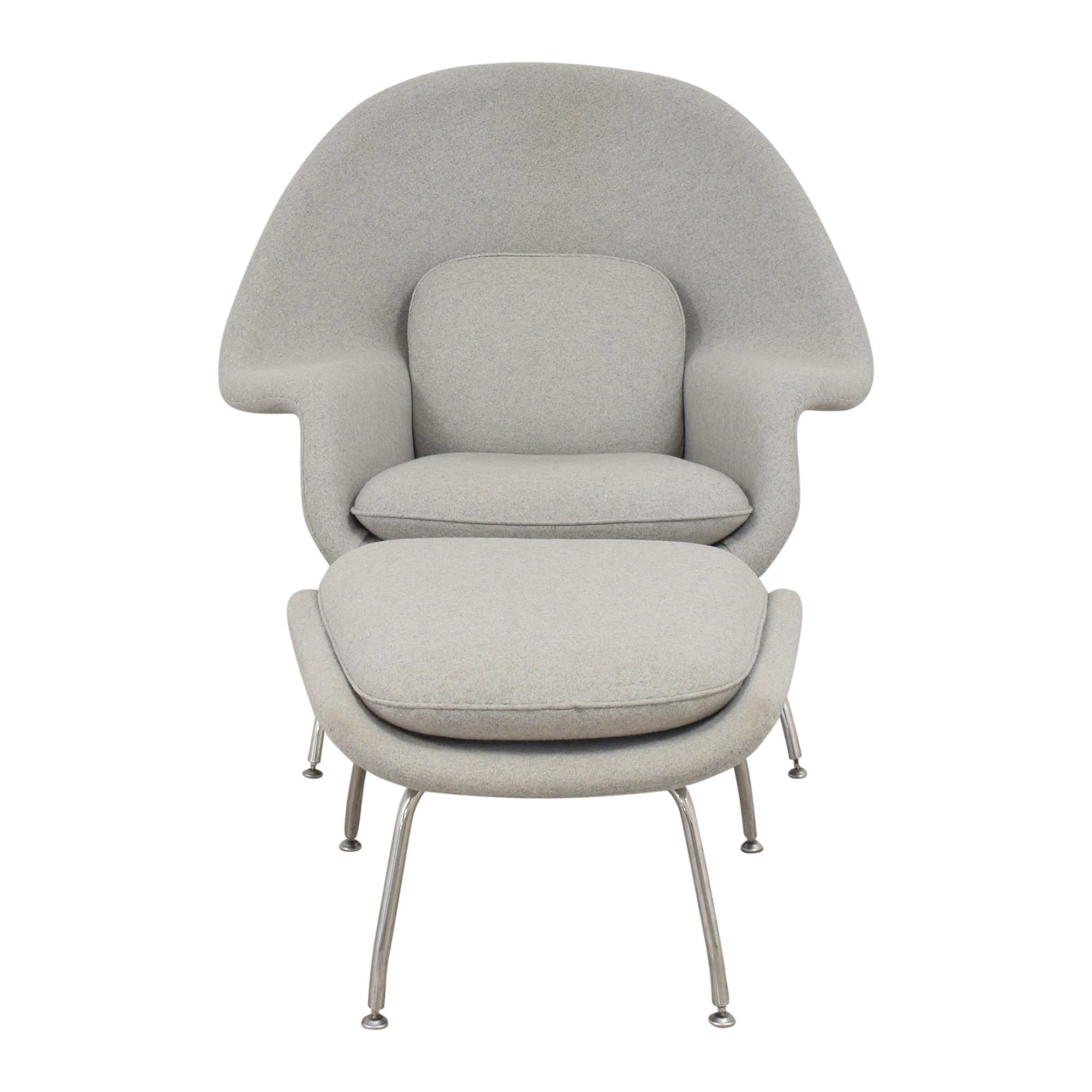 shop France and Son Womb Chair with Ottoman France and Son Accent Chairs