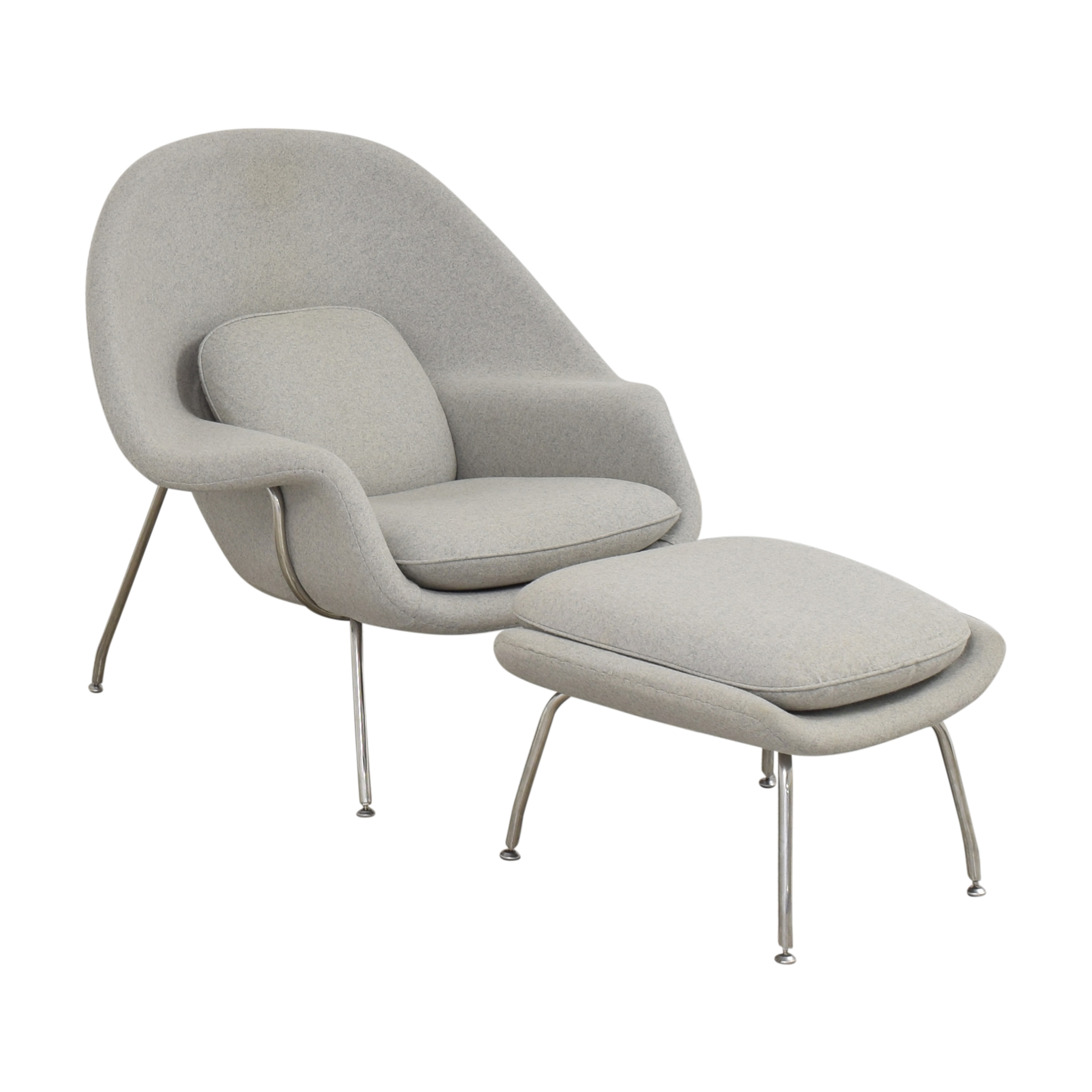 France and Son France and Son Womb Chair with Ottoman dimensions