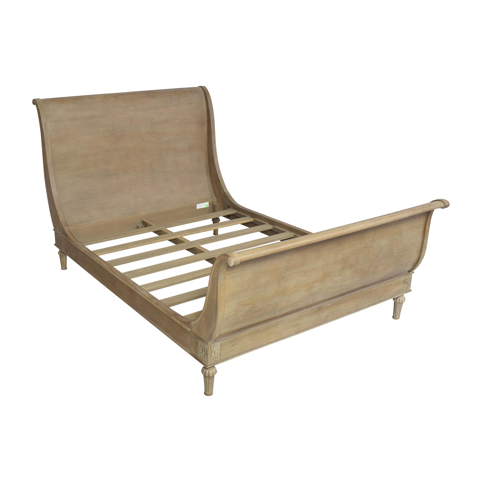 buy Restoration Hardware Restoration Hardware Empire Rosette Queen Sleigh Bed online
