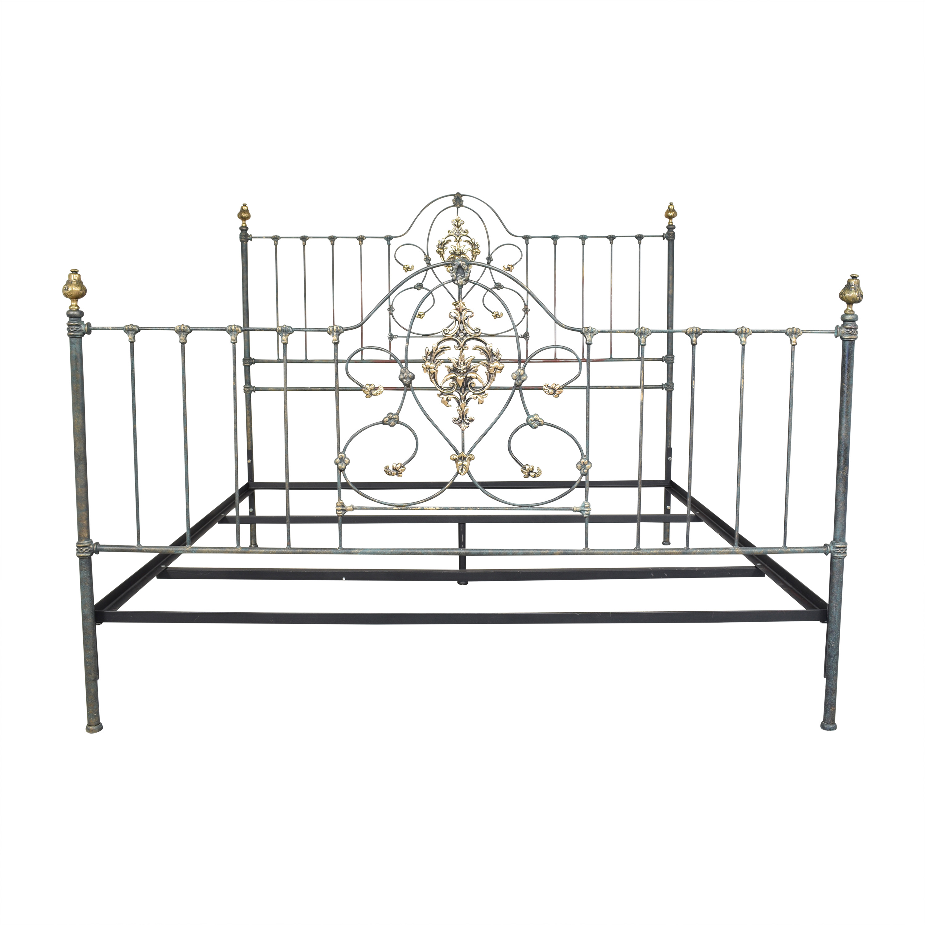 Charles P. Rogers Charles P. Rogers Openwork King Bed gold and dark gray