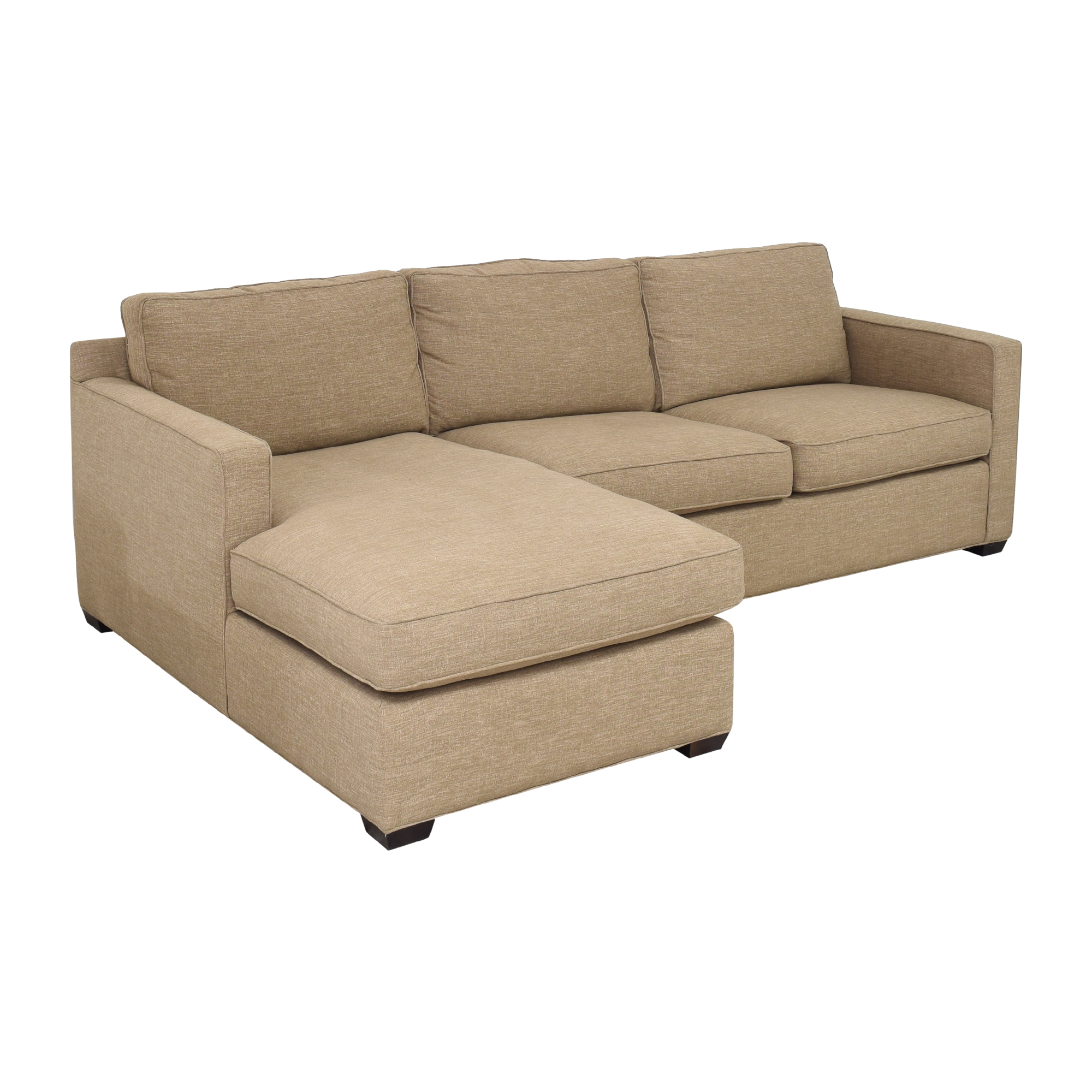 buy Crate & Barrel Crate & Barrel Sectional Sofa with Chaise online