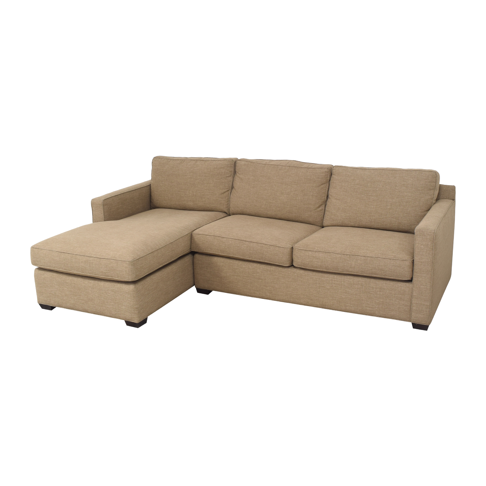 Crate & Barrel Crate & Barrel Sectional Sofa with Chaise discount
