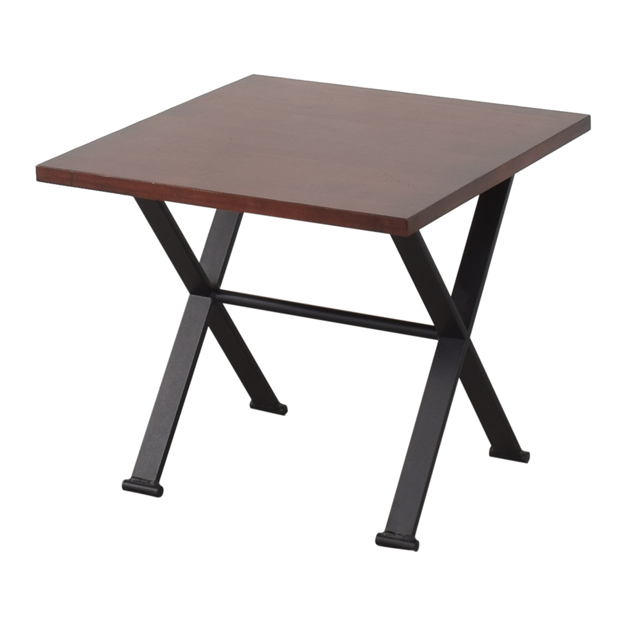 Square End Table brown & black