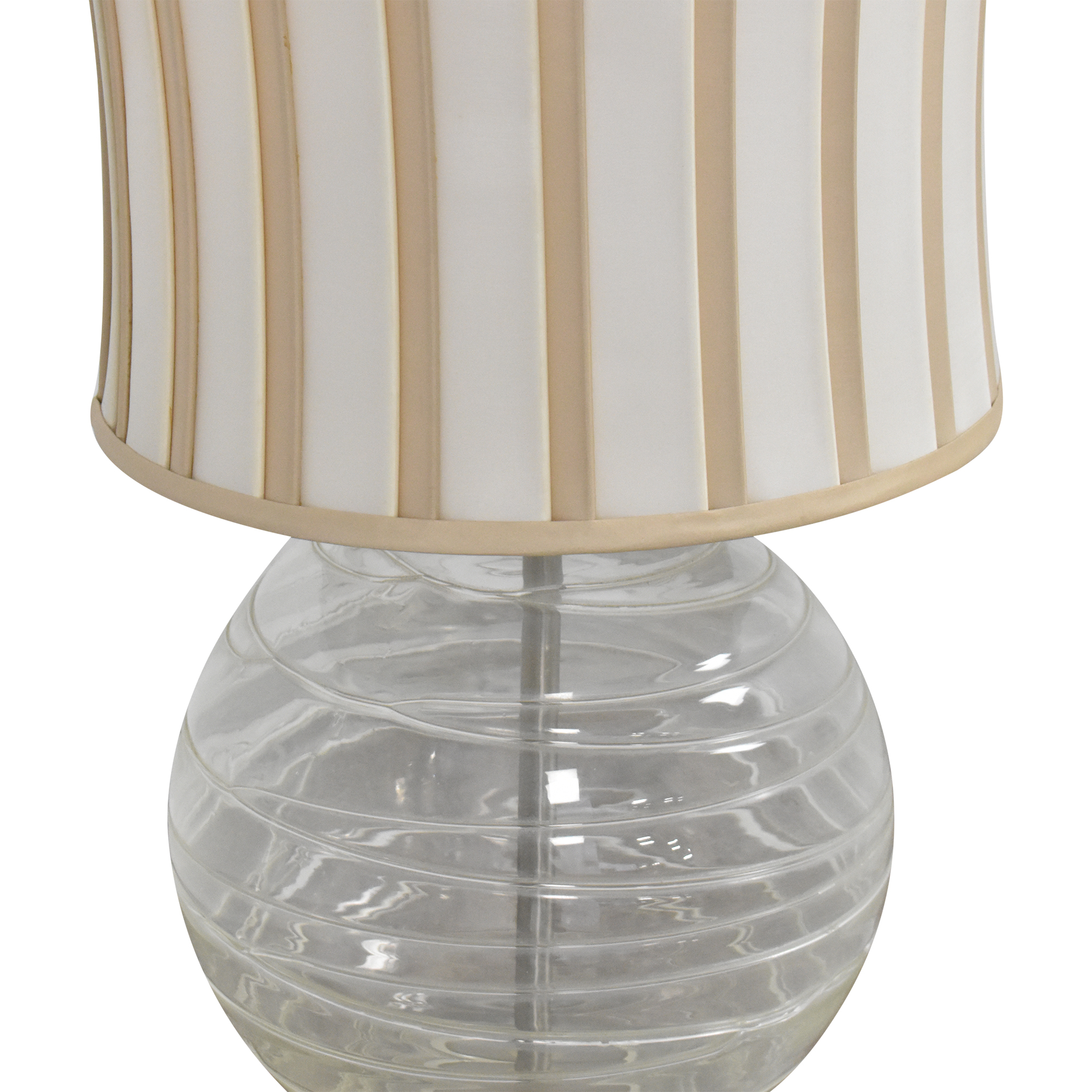Striped Orb Lamp clear and beige