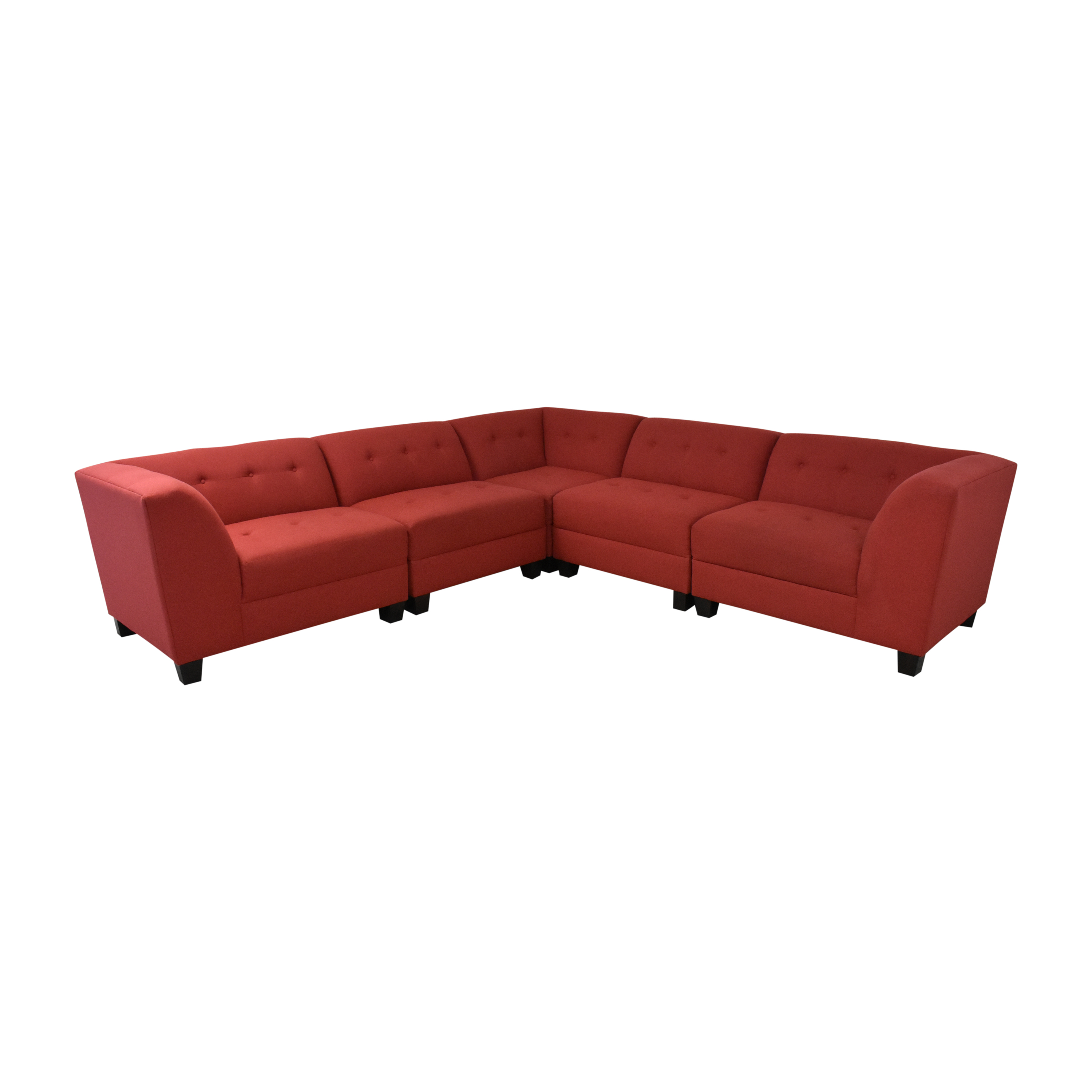 England Furniture England Furniture Miller Five Piece Sectional Sofa with Ottoman ct