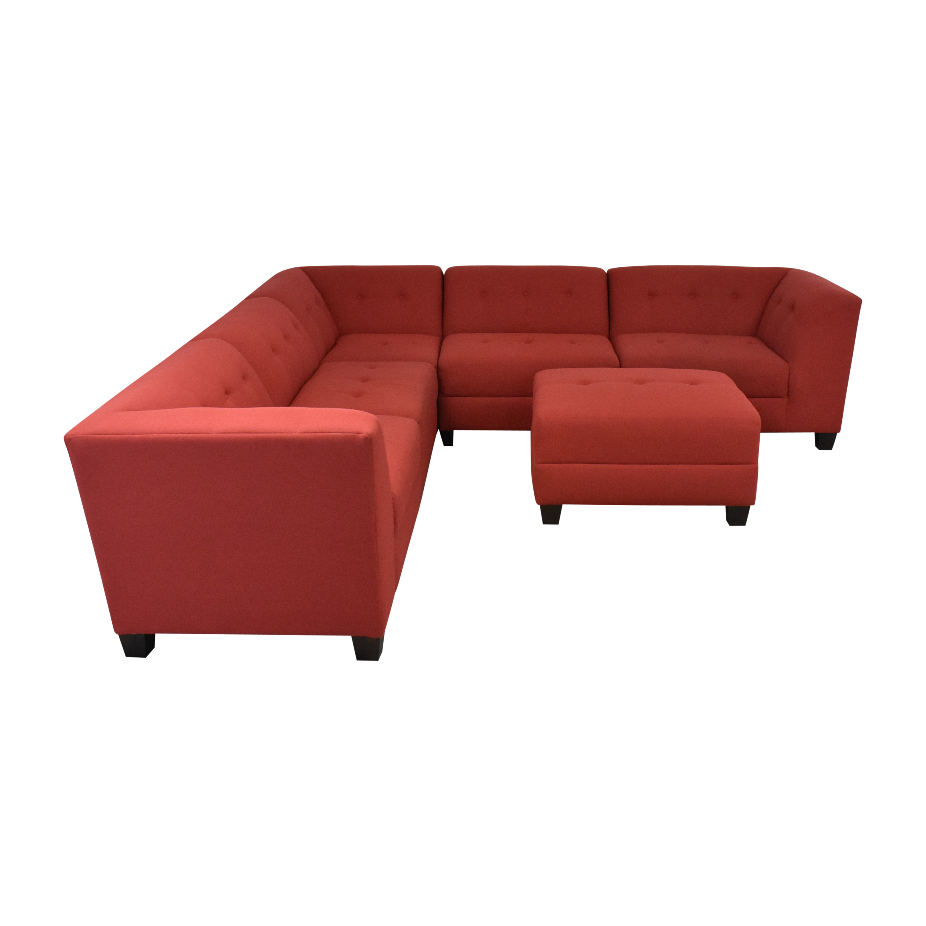 England Furniture England Furniture Miller Five Piece Sectional Sofa with Ottoman