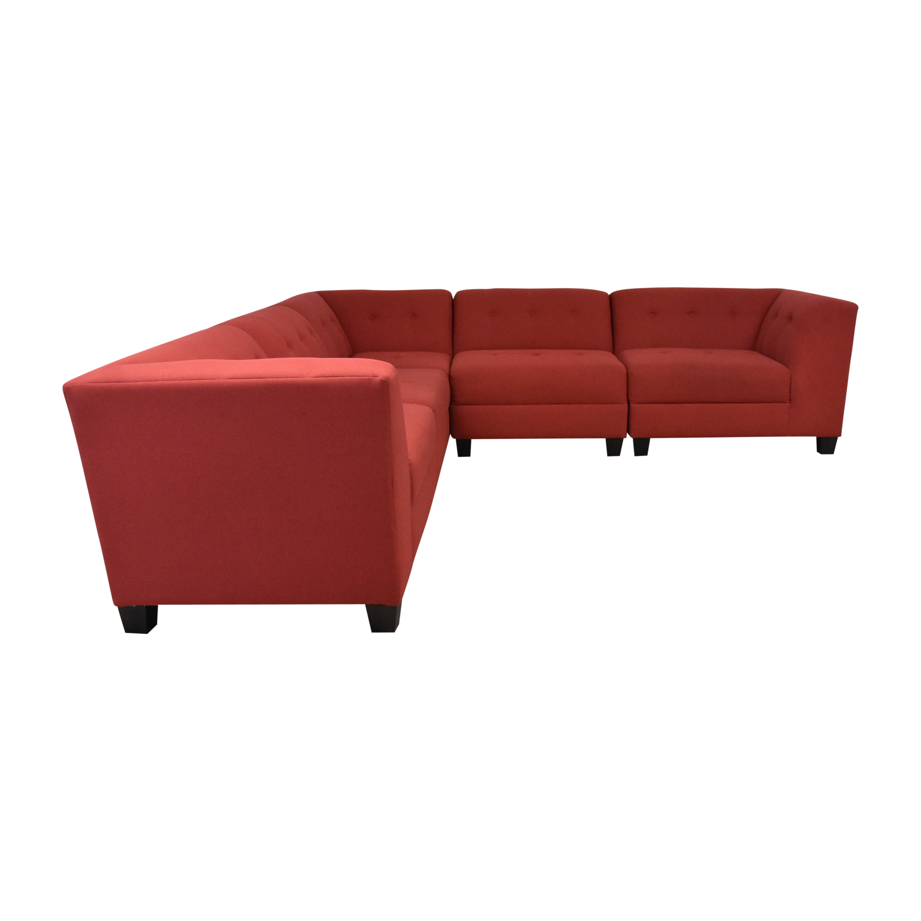 England Furniture England Furniture Miller Five Piece Sectional Sofa with Ottoman nj