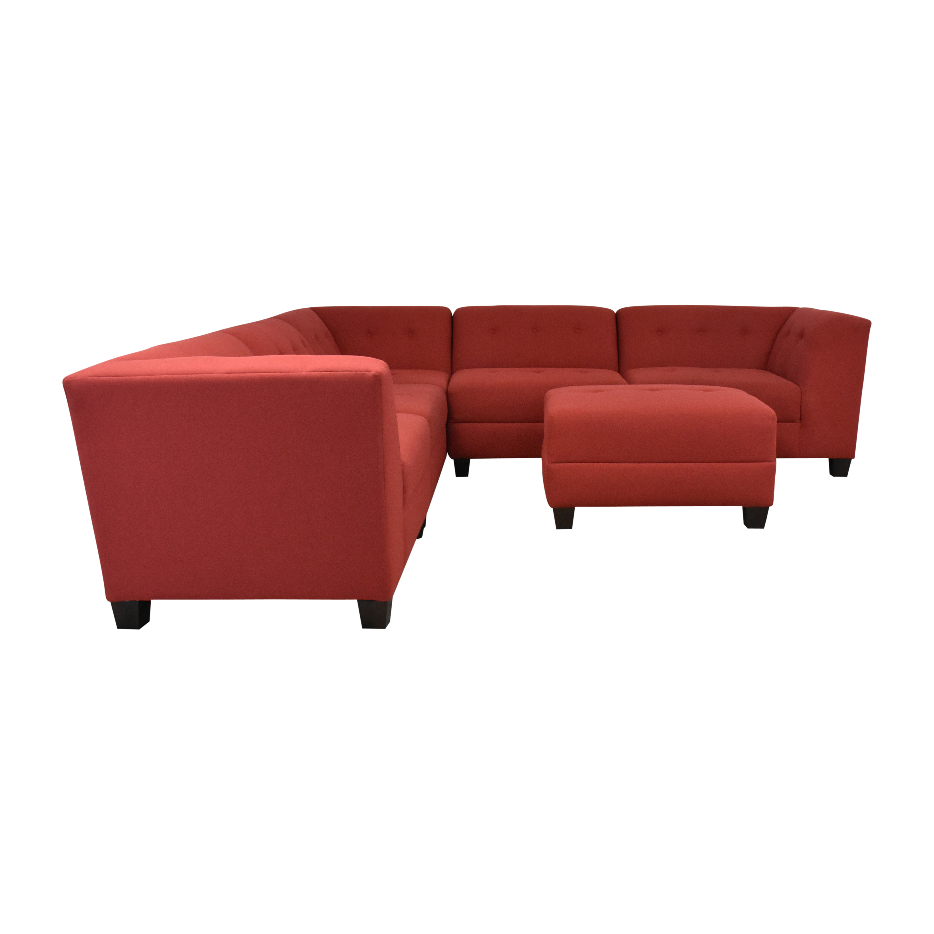 England Furniture England Furniture Miller Five Piece Sectional Sofa with Ottoman ma
