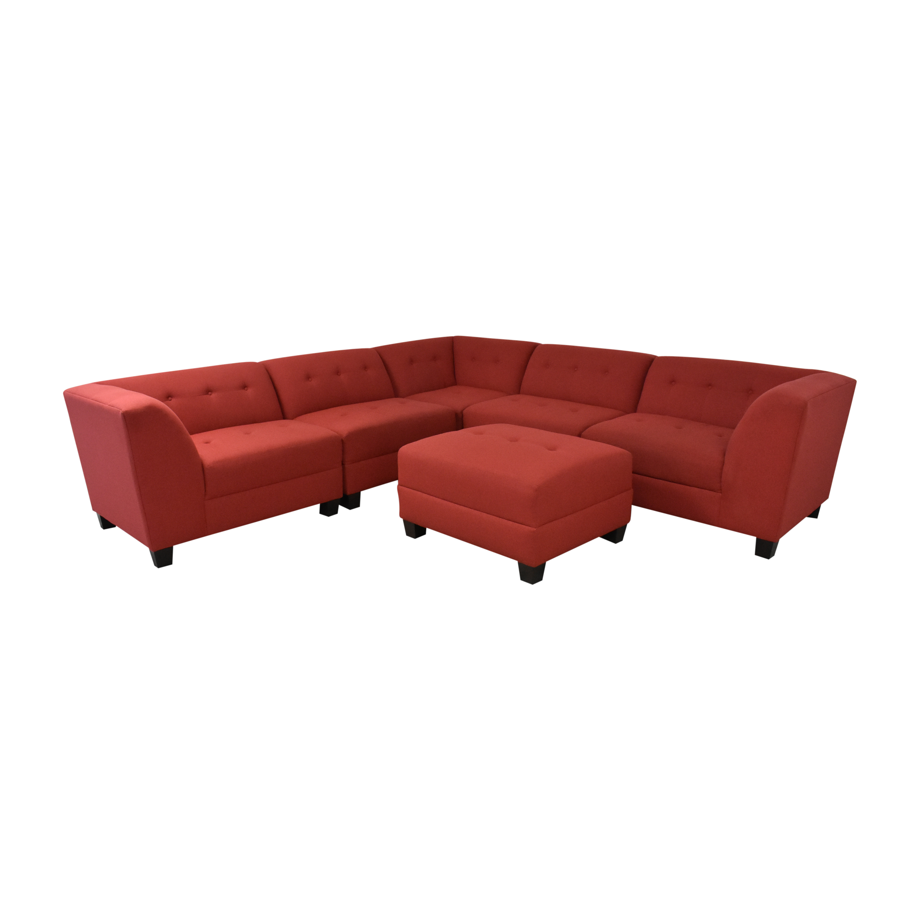 England Furniture England Furniture Miller Five Piece Sectional Sofa with Ottoman Sofas