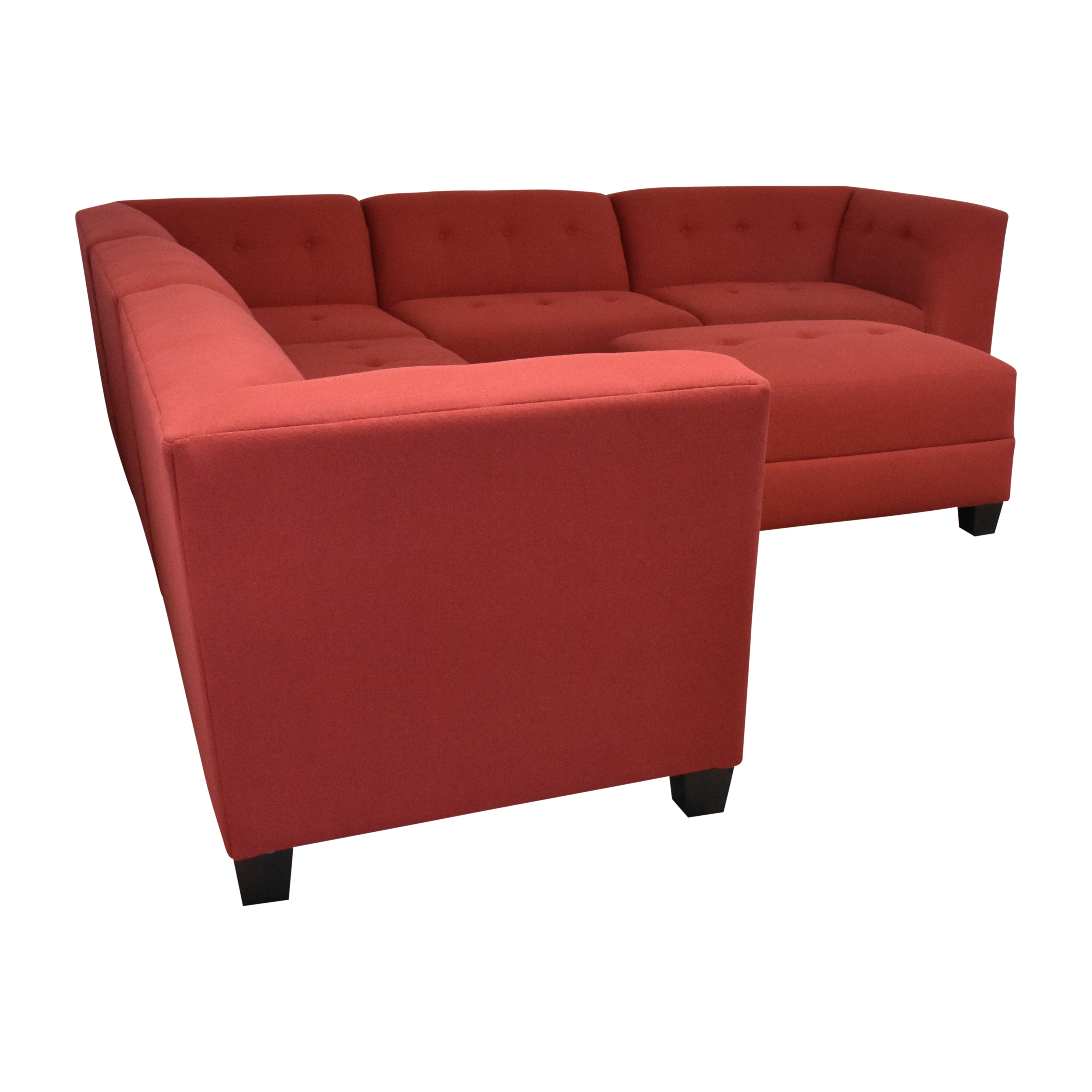shop England Furniture Miller Five Piece Sectional Sofa with Ottoman England Furniture