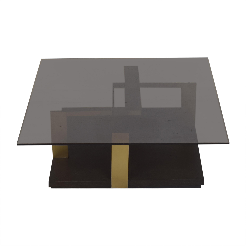 Huffman Koos Huffman Koos Modern Coffee Table dark brown & gold