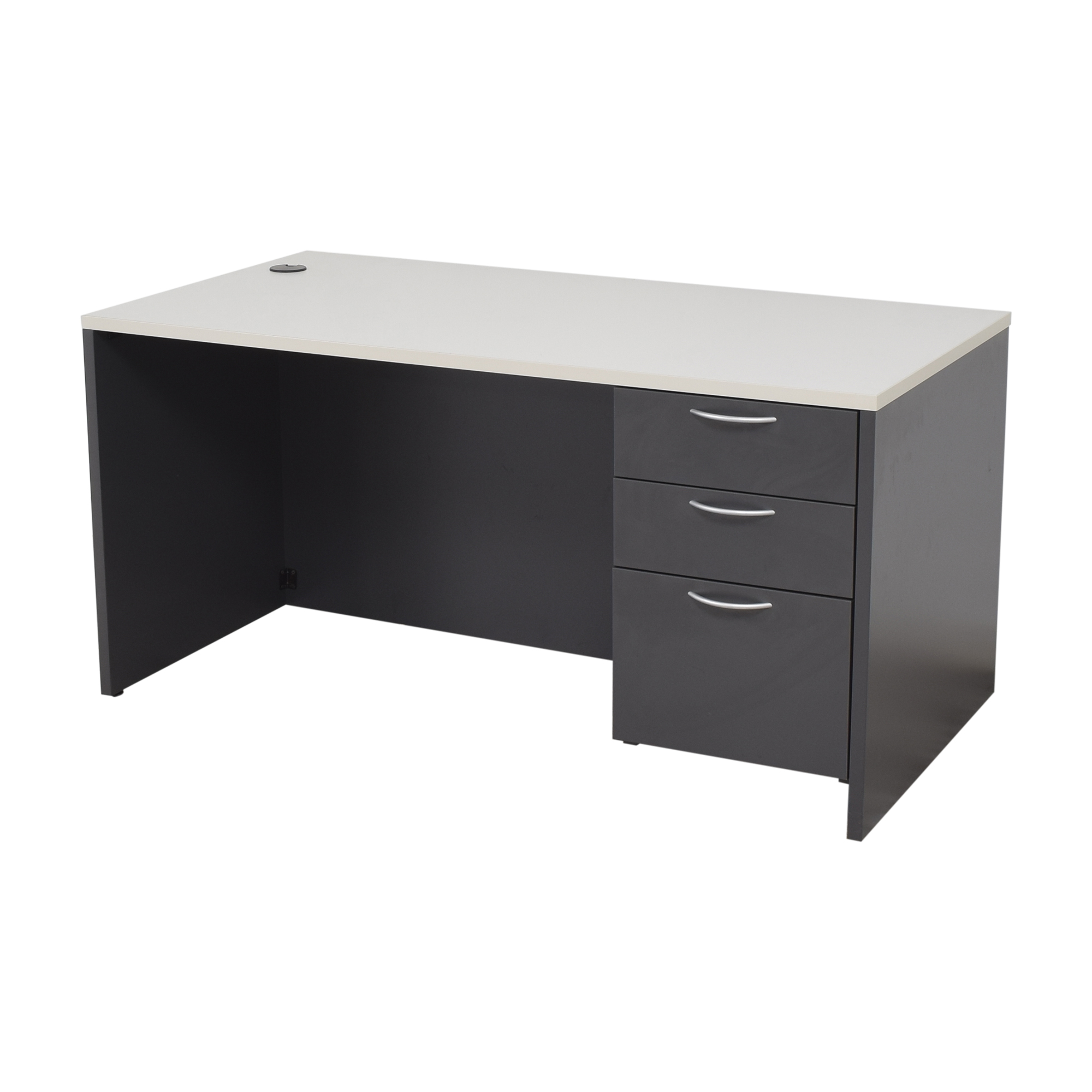 Office Furniture Heaven Office Furniture Heaven Three Drawer Desk dark and light gray