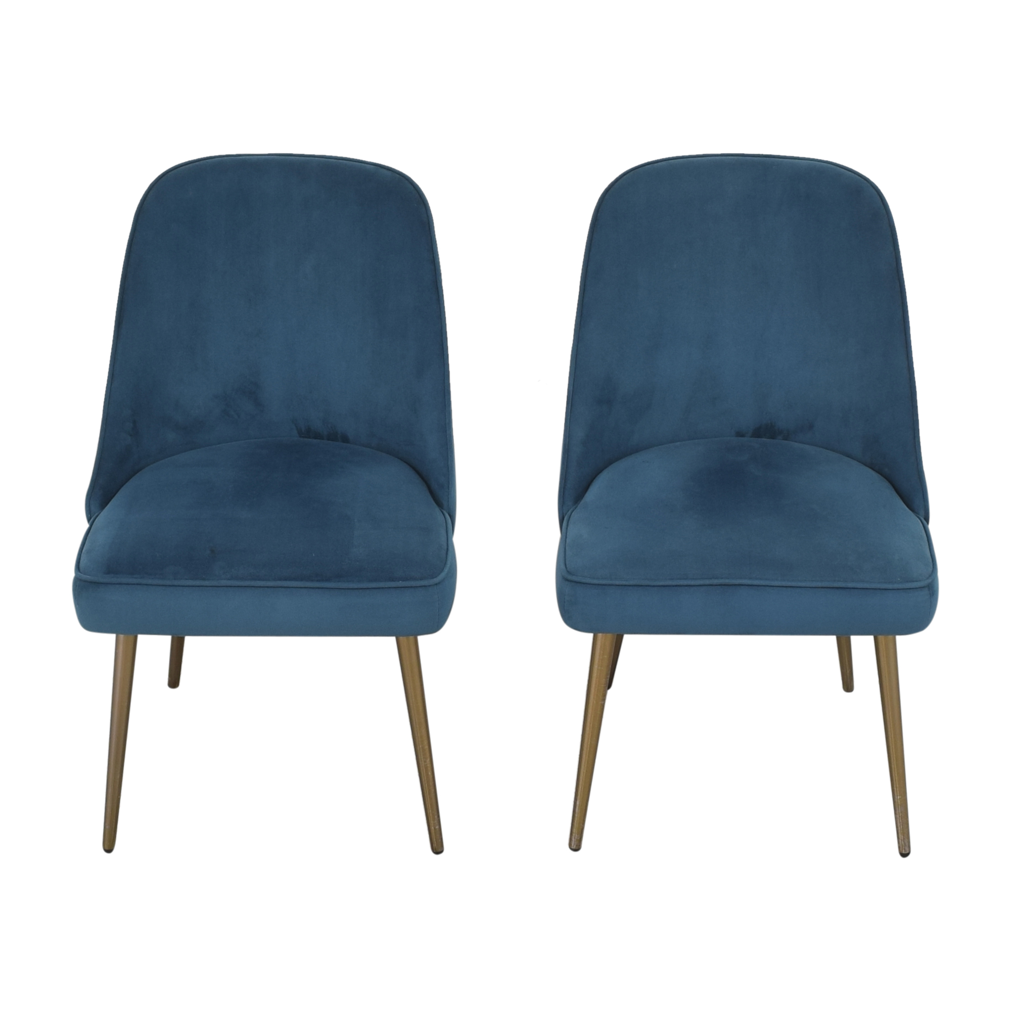 shop West Elm Mid Century Upholstered Dining Chairs West Elm Chairs