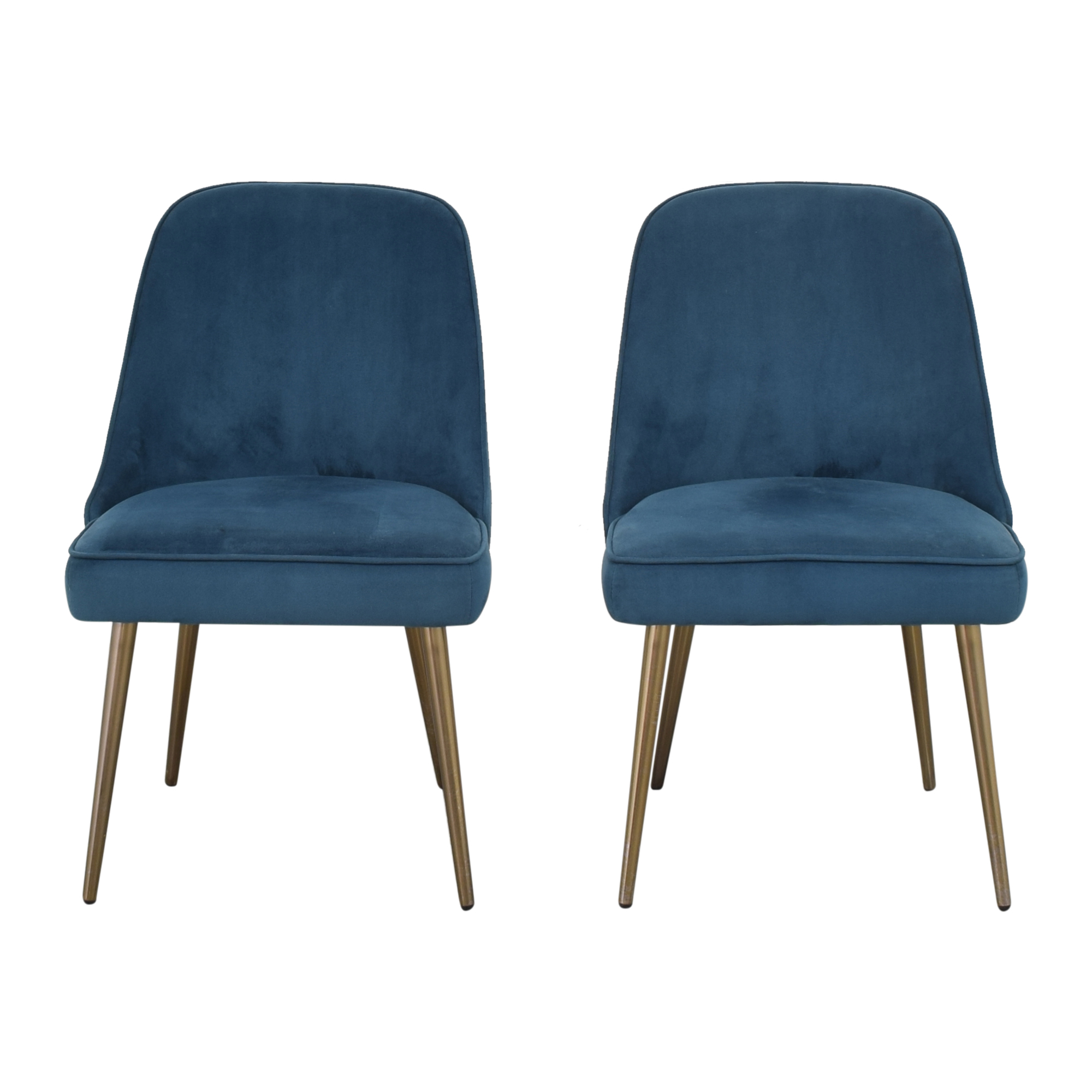 West Elm West Elm Mid Century Upholstered Dining Chairs used