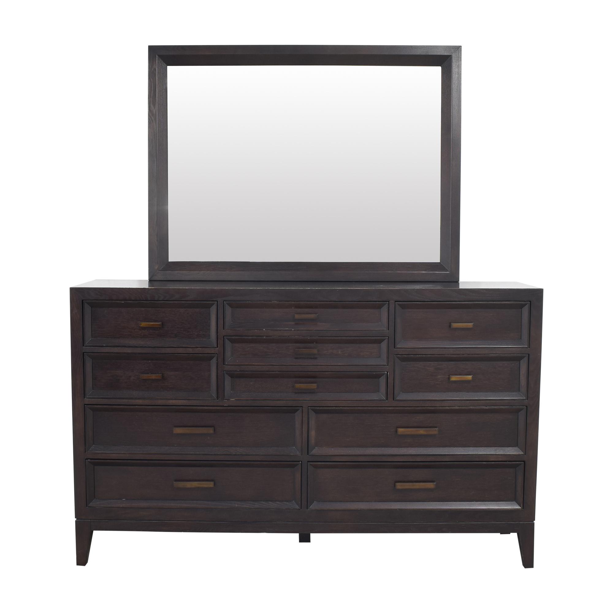 Safavieh  Safavieh Eleven Drawer Dresser with Mirror price