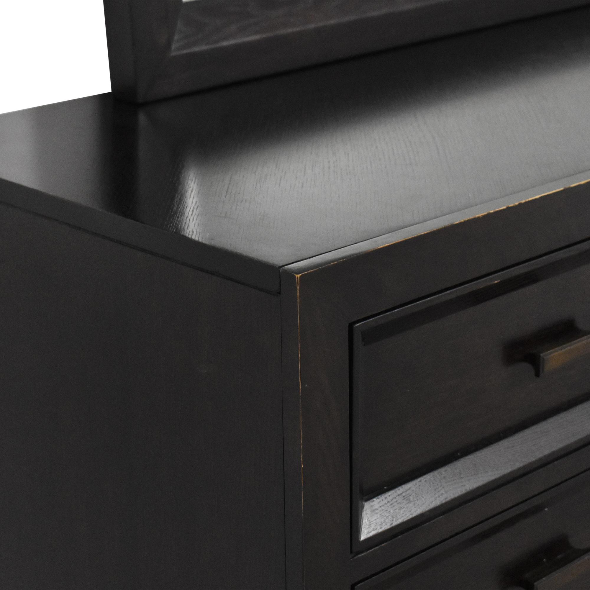 shop  Safavieh Eleven Drawer Dresser with Mirror Safavieh Storage