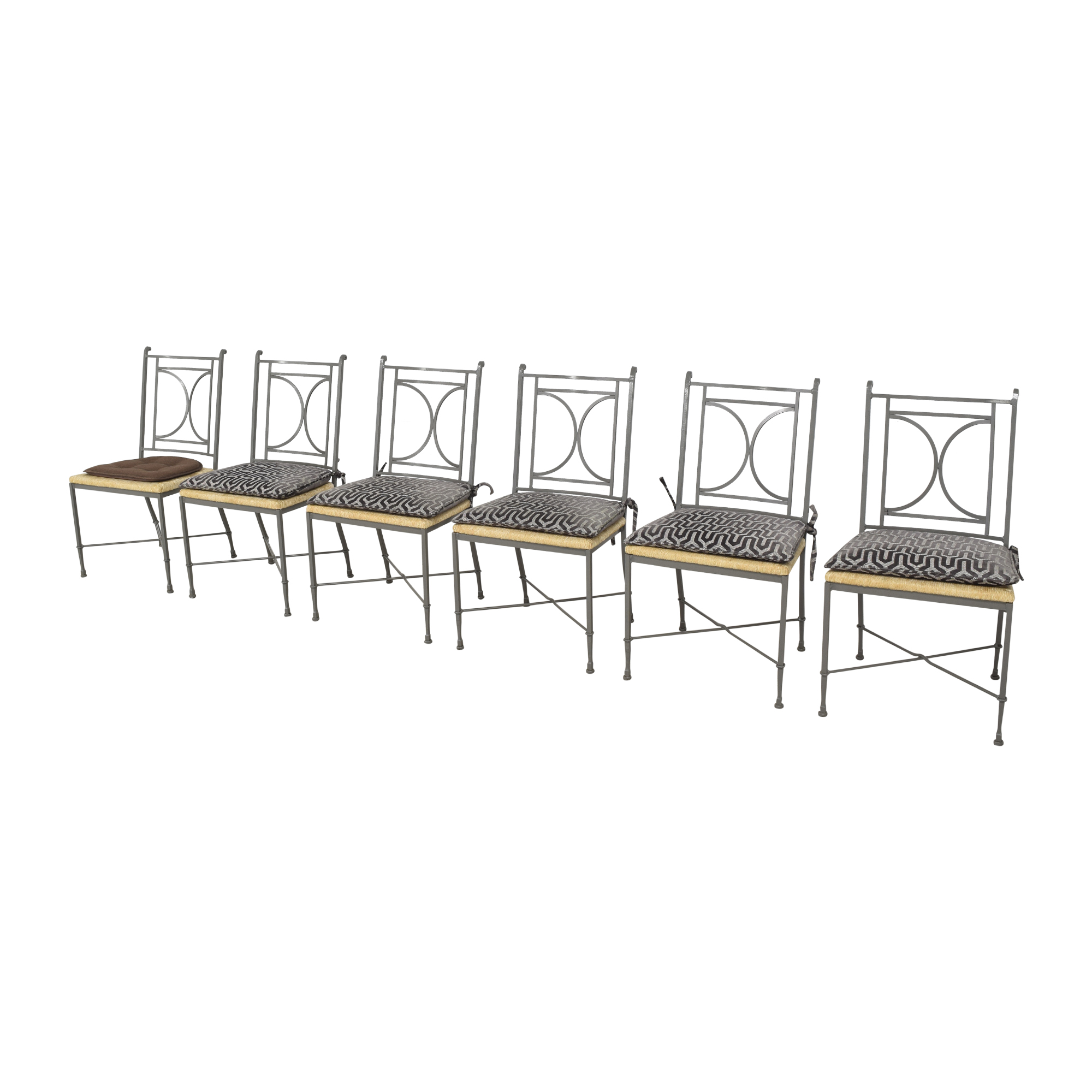 buy Charleston Forge Woven Seat Dining Chairs with Cushions Charleston Forge