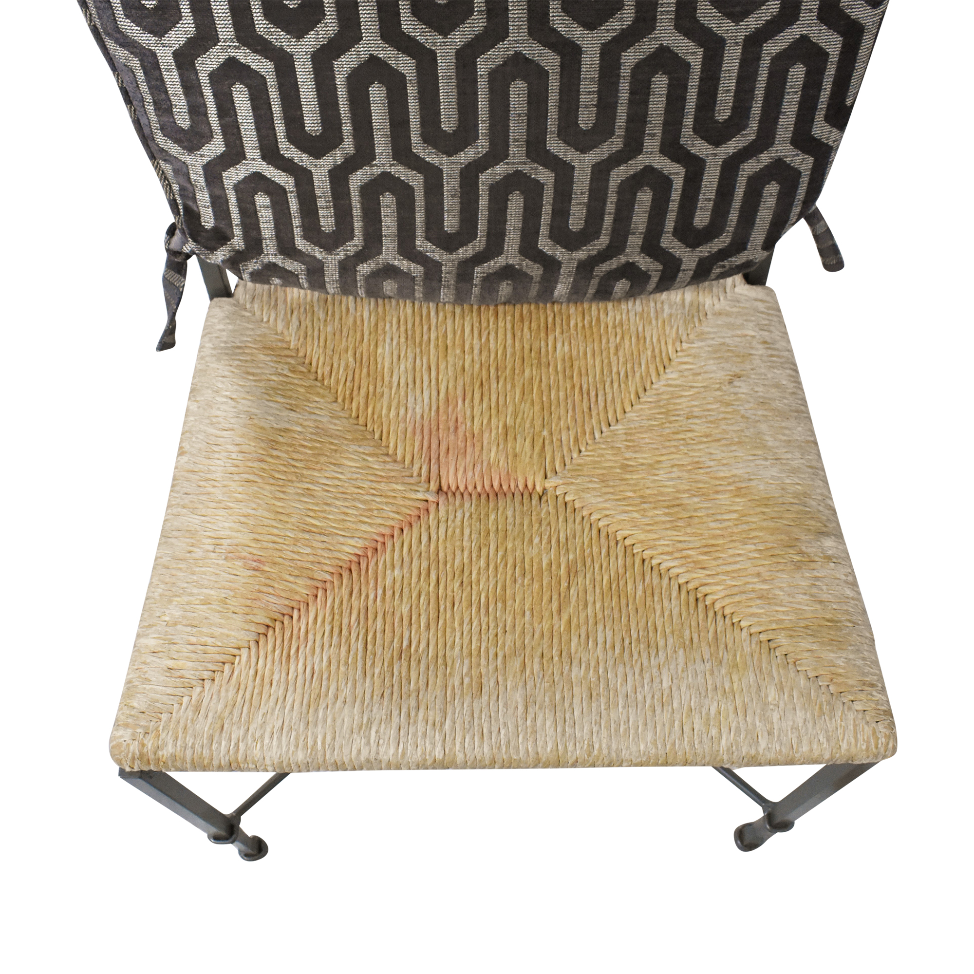 Charleston Forge Woven Seat Dining Chairs with Cushions Charleston Forge