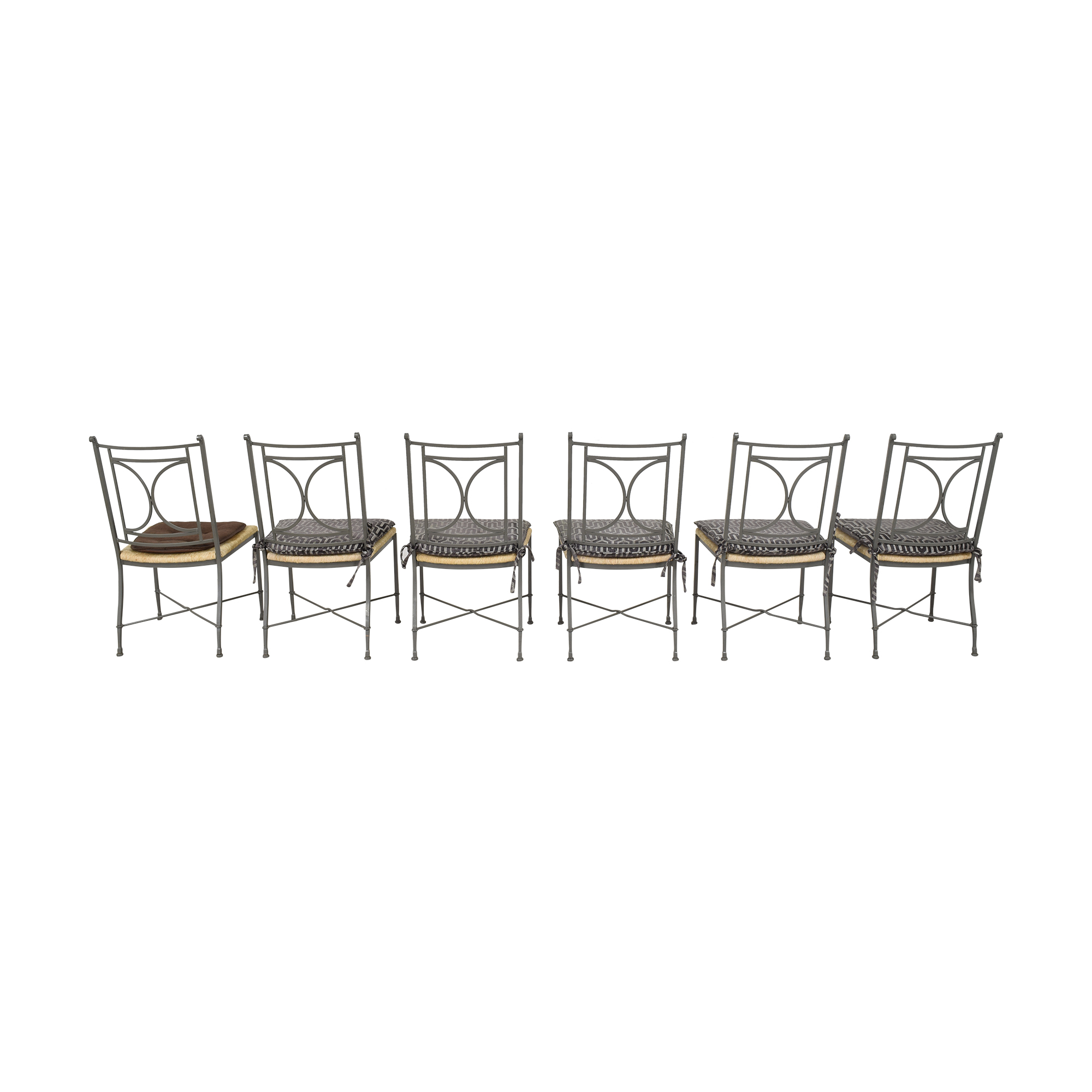 Charleston Forge Charleston Forge Woven Seat Dining Chairs with Cushions discount