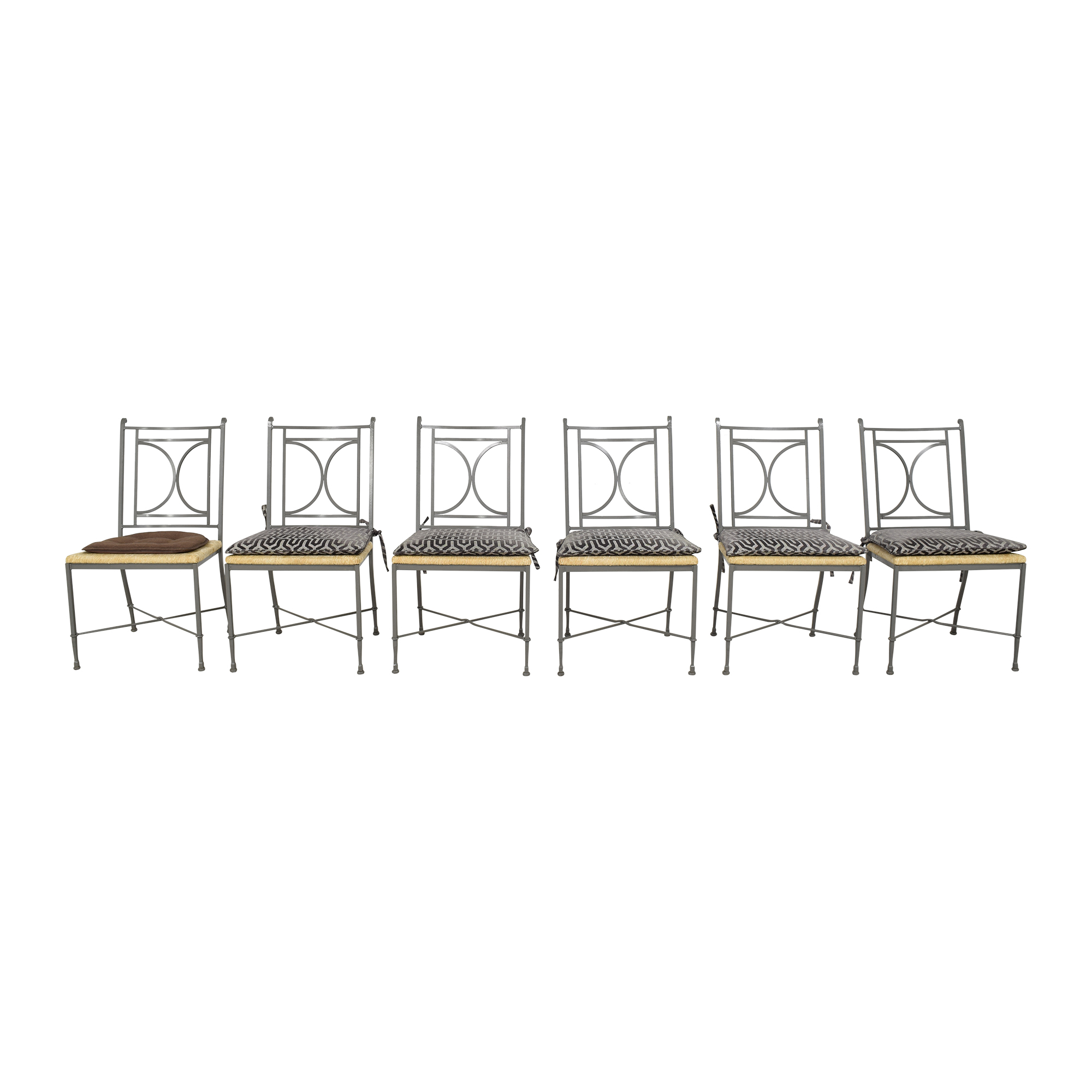 Charleston Forge Charleston Forge Woven Seat Dining Chairs with Cushions Chairs