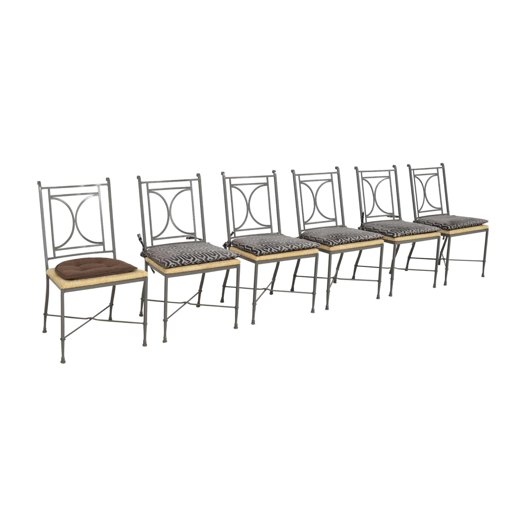 Charleston Forge Charleston Forge Woven Seat Dining Chairs with Cushions ct